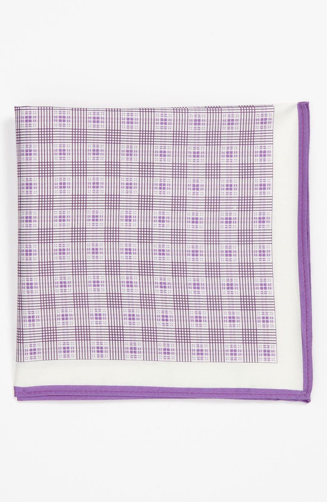 Alternate Image 1 Selected - Michael Kors Plaid Pocket Square