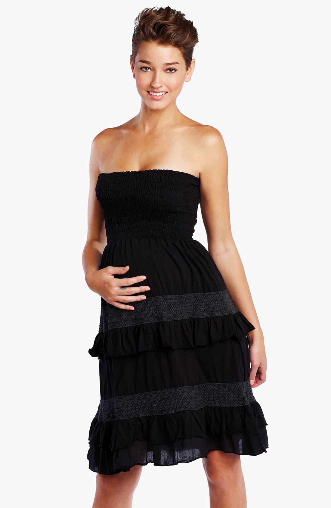Main Image - Maternal America Convertible Crochet Maternity Dress