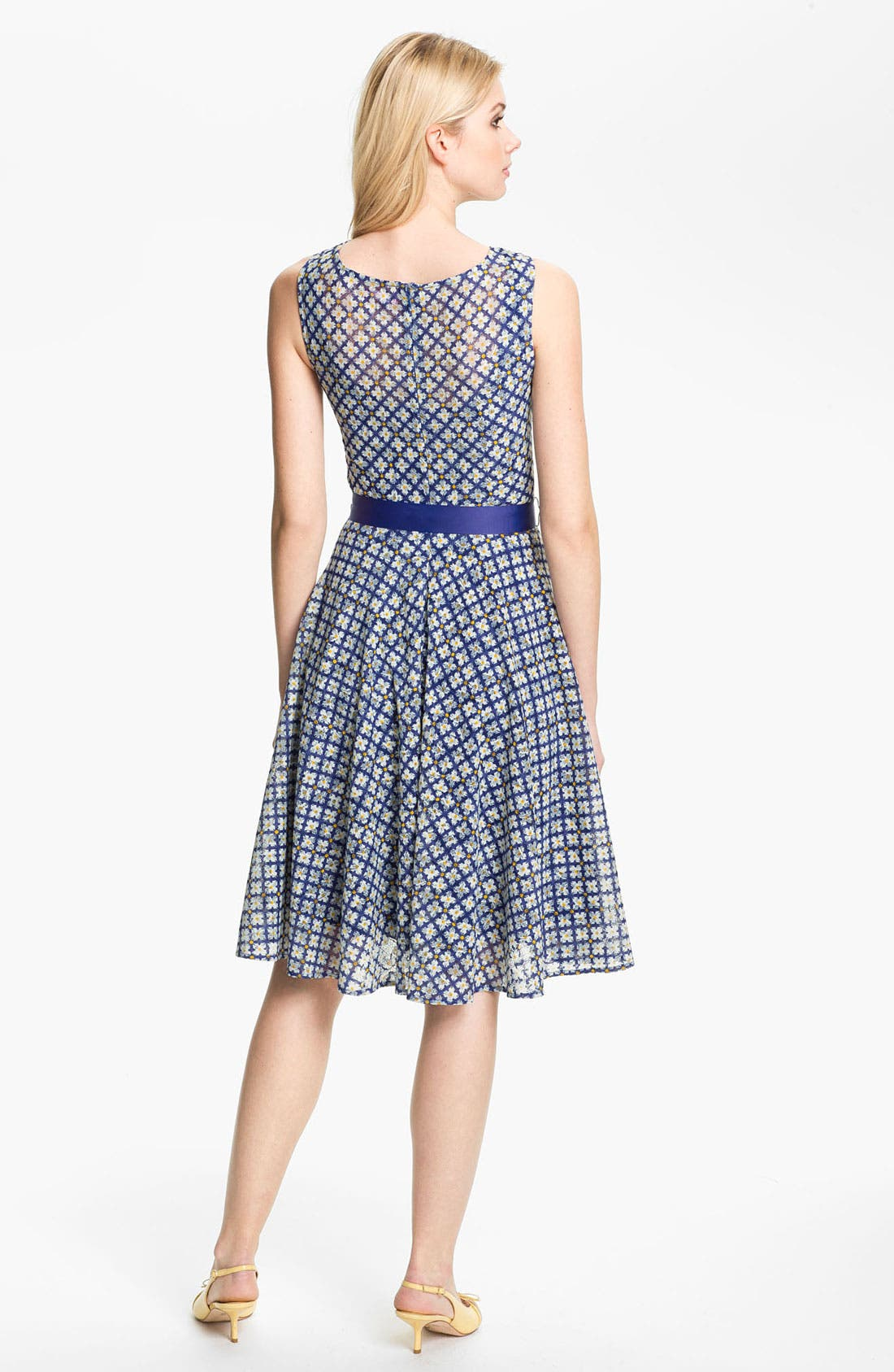 Alternate Image 2  - Isaac Mizrahi New York Print Lace Dress