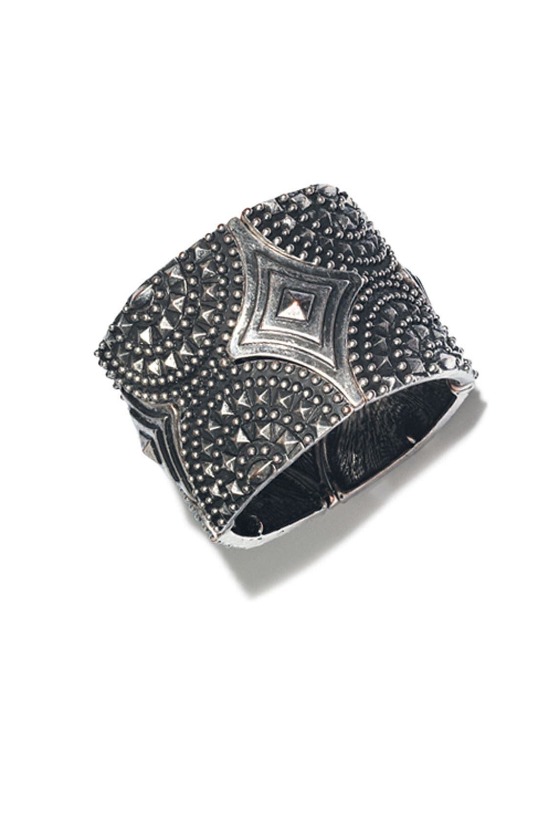 Alternate Image 3  - Spring Street Studded Stretch Cuff