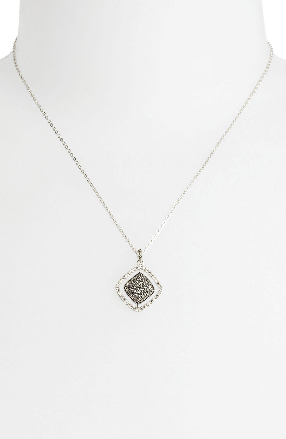 Alternate Image 1 Selected - Judith Jack Cushion Marcasite Pendant Necklace