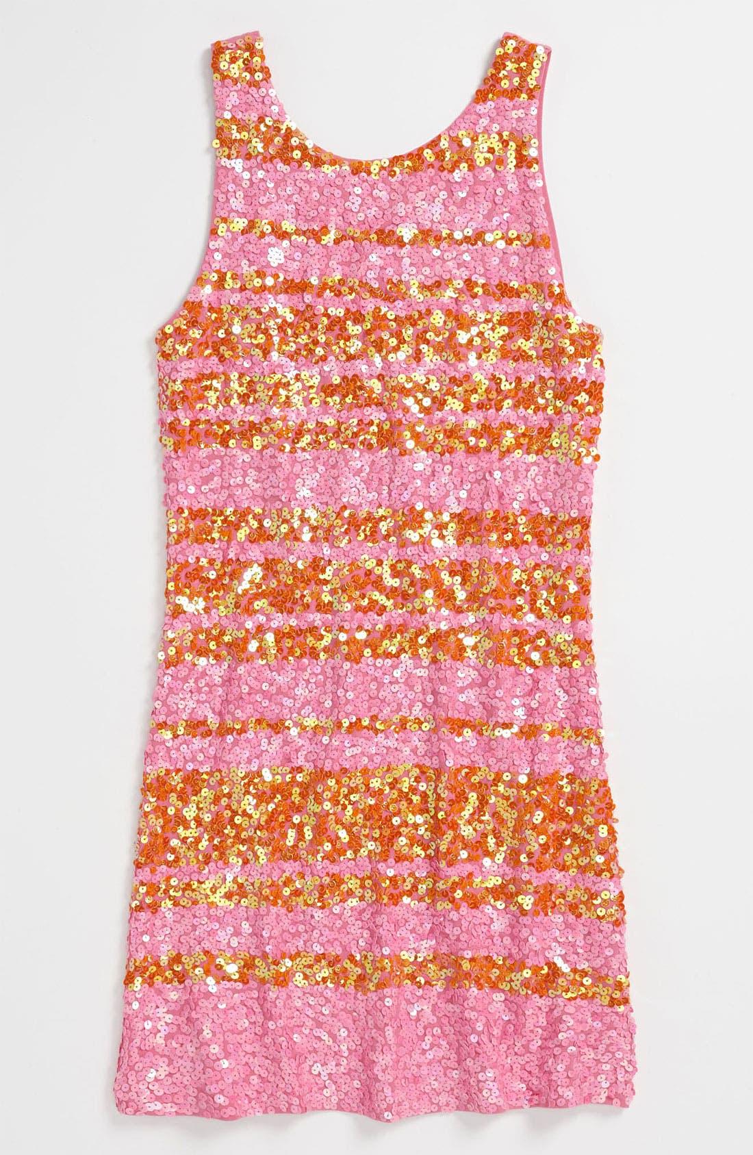 Main Image - Flowers by Zoe Sequin Dress (Big Girls)