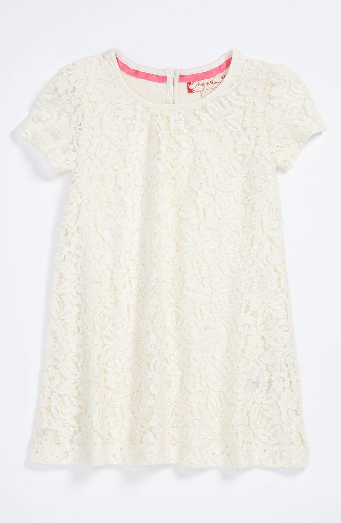 Main Image - Ruby & Bloom 'Paulina' Lace Dress (Baby Girls)