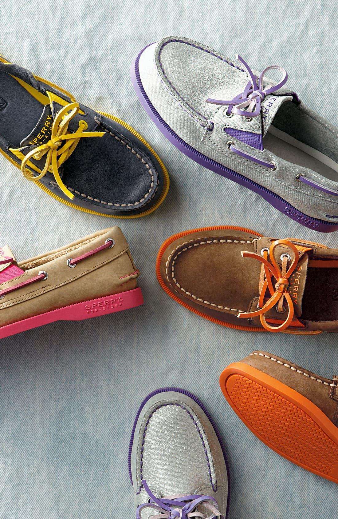 Alternate Image 5  - Sperry Top-Sider® Kids 'Authentic Original' Boat Shoe (Walker, Toddler, Little Kid & Big Kid)