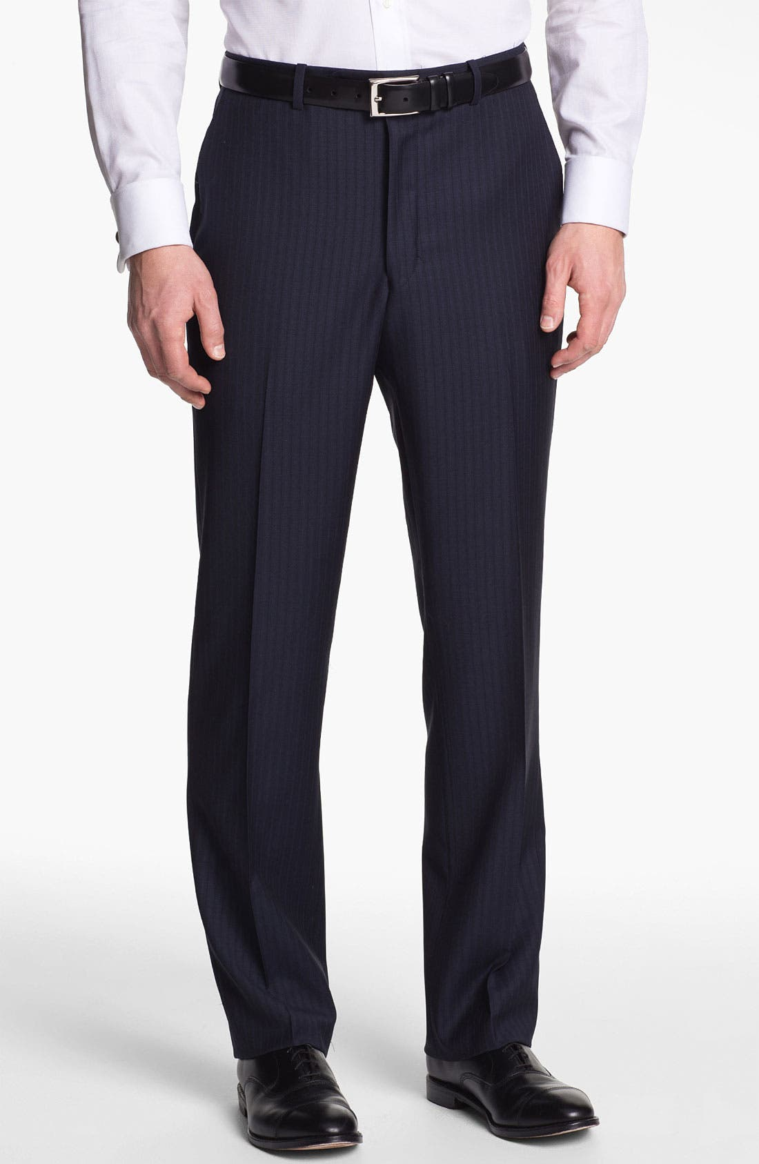 Alternate Image 4  - Peter Millar Stripe Wool Suit