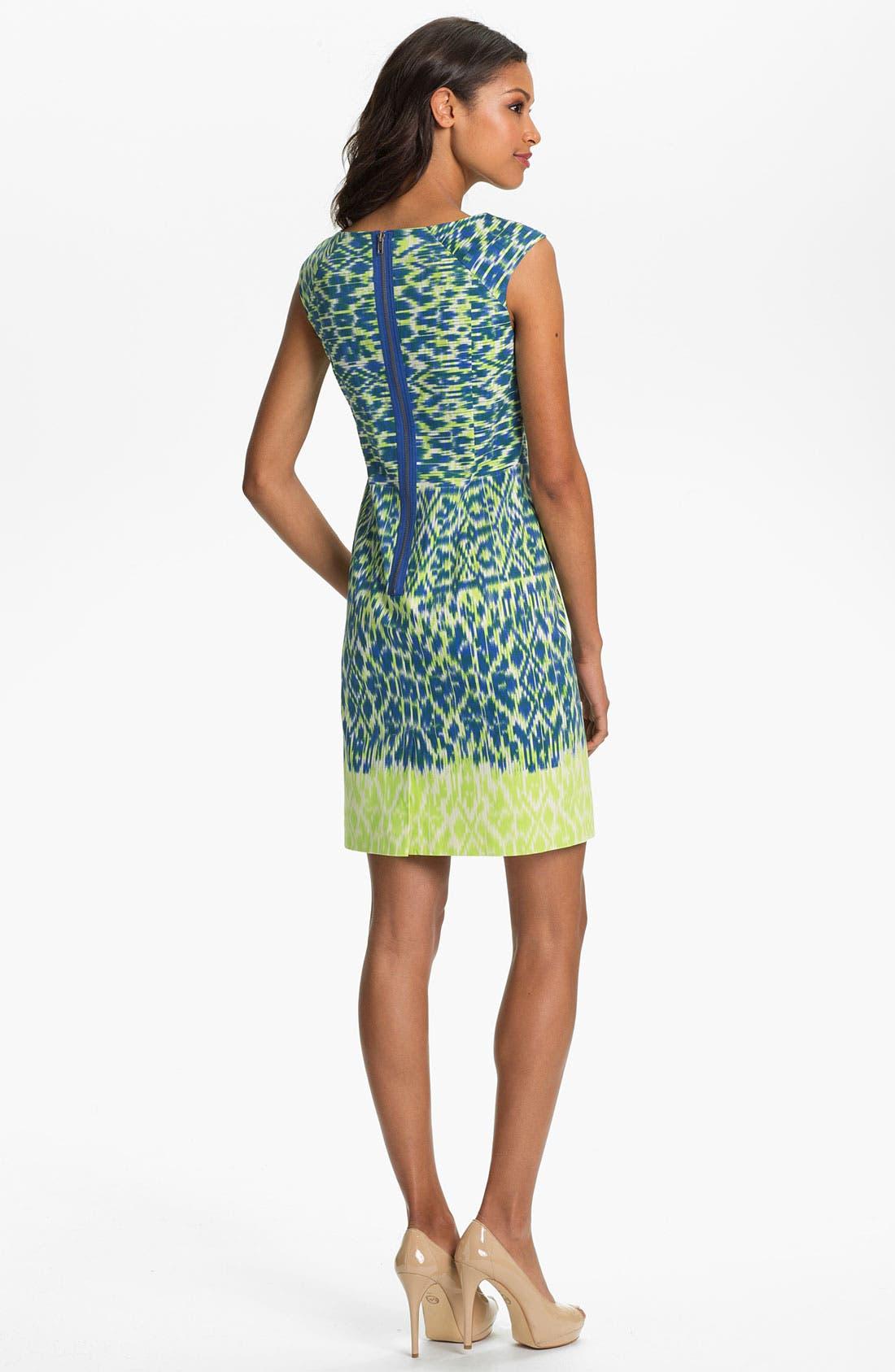 Alternate Image 2  - Adrianna Papell Ikat Print Sheath Dress