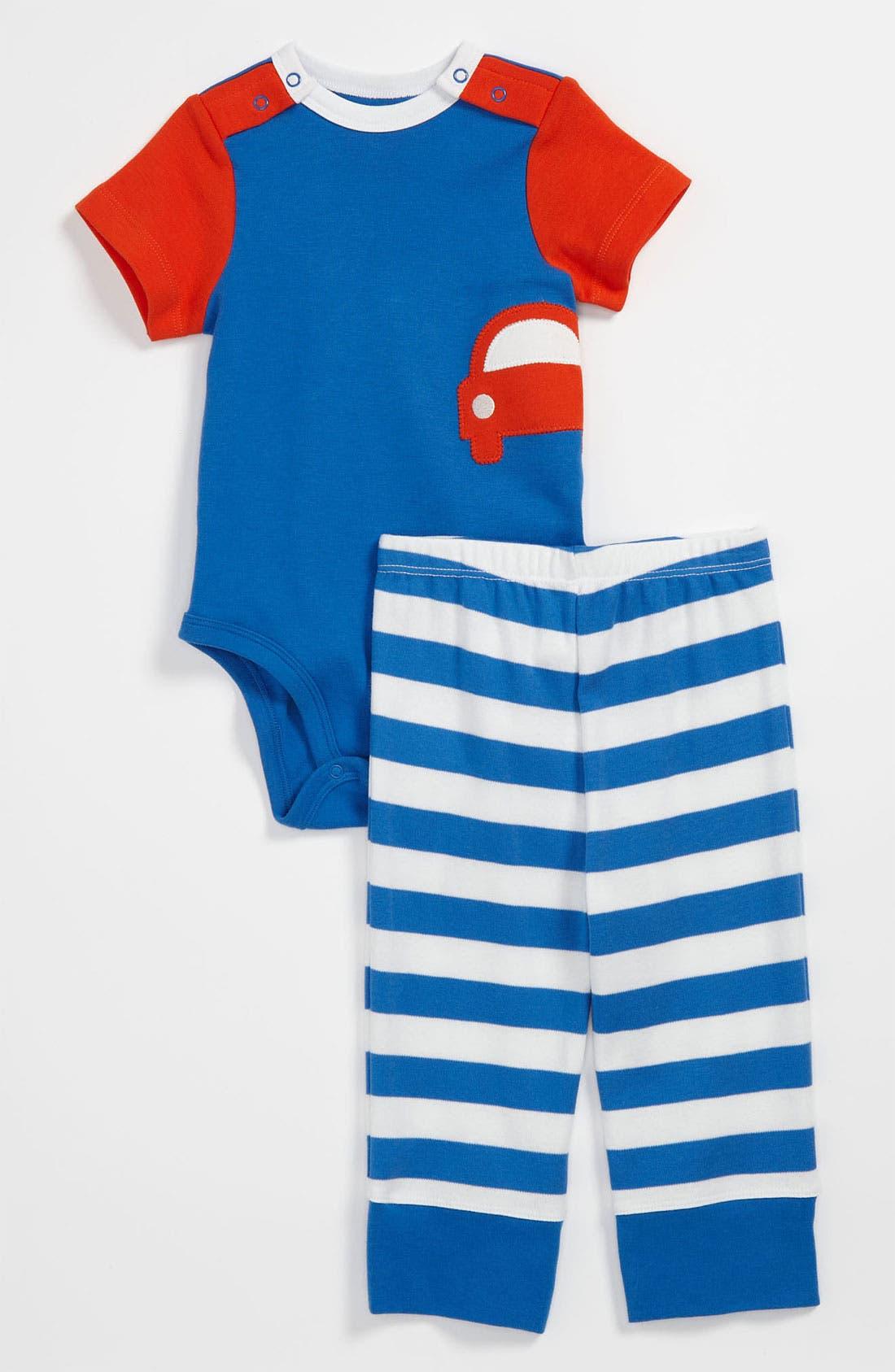 Alternate Image 1 Selected - Offspring 'Car' Bodysuit & Pants (Baby)