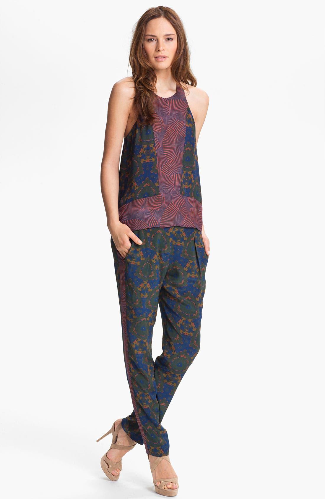 Alternate Image 4  - A.L.C. 'Bryant' Mix Print Silk Pants