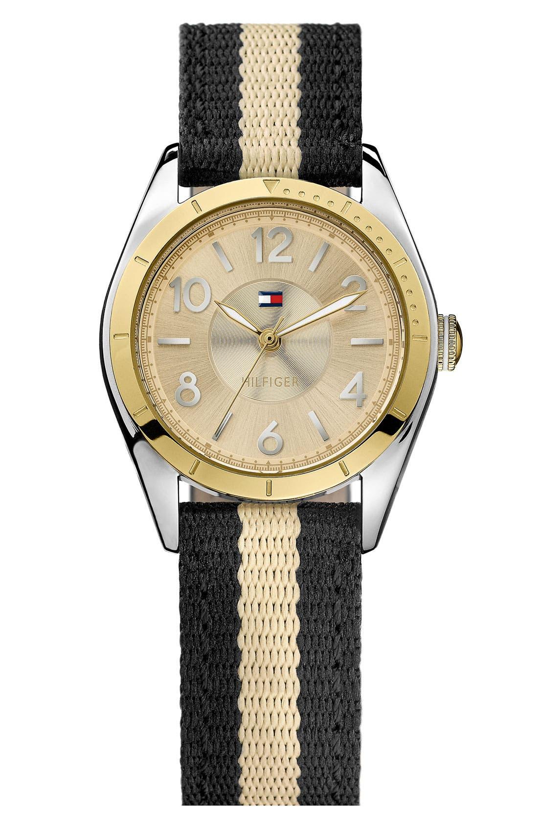 Main Image - Tommy Hilfiger Round Nylon Strap Watch, 30mm