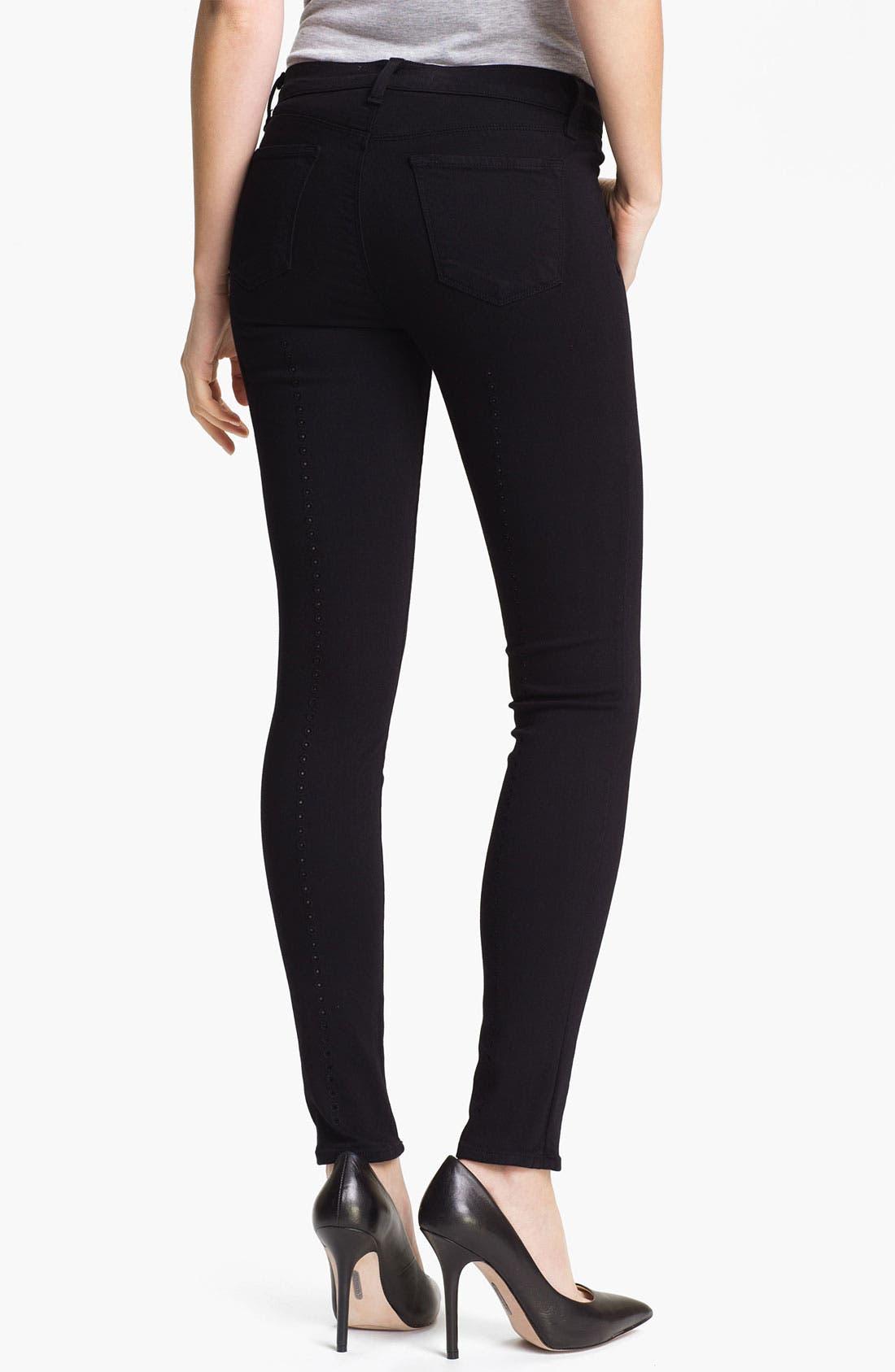 Alternate Image 2  - J Brand Super Skinny Stretch Jeans (Black)