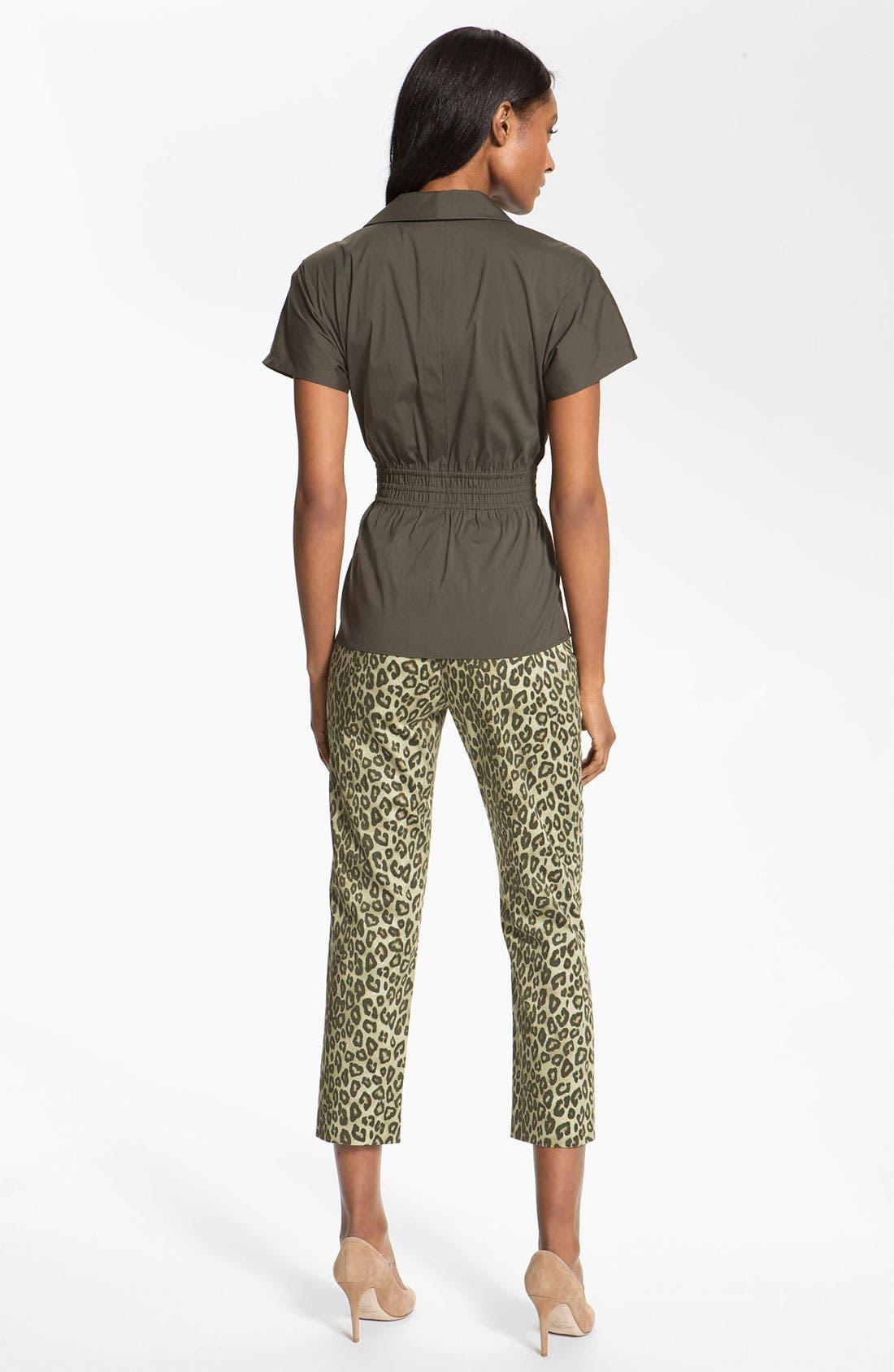 Alternate Image 5  - Lafayette 148 New York 'Bleecker - Senegal Cheetah' Crop Pants
