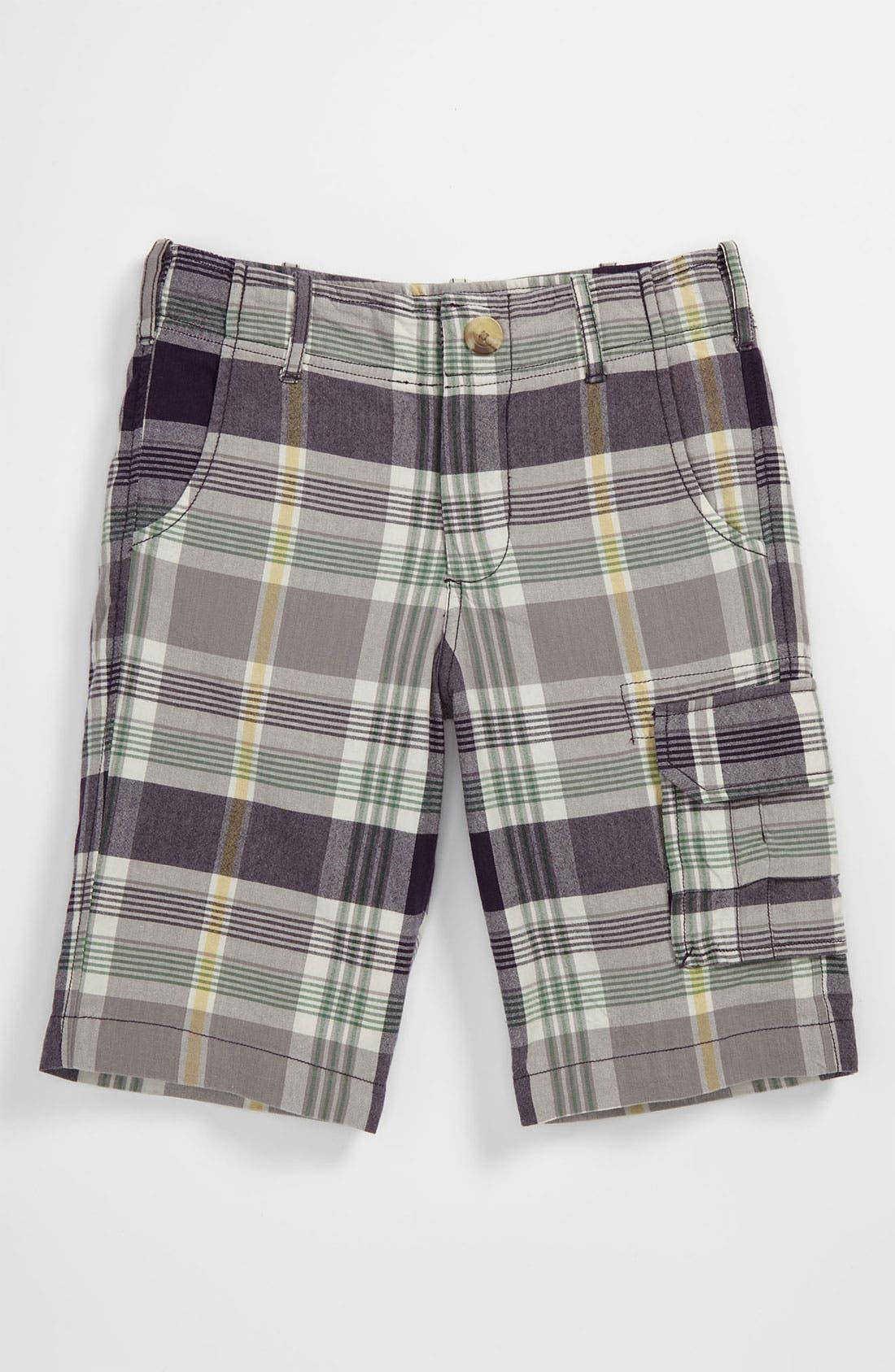 Main Image - Peek 'Oxford' Plaid Shorts (Big Boys)