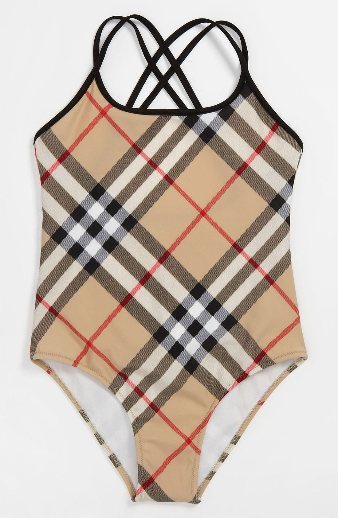Alternate Image 1 Selected - Burberry One Piece Swimsuit (Big Girls)