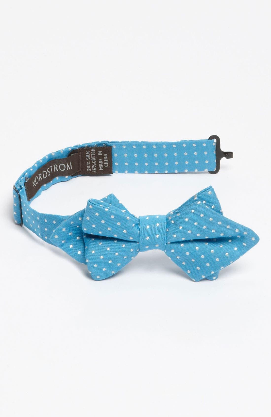 Alternate Image 1 Selected - Nordstrom Cotton Blend Bow Tie (Little Boys)