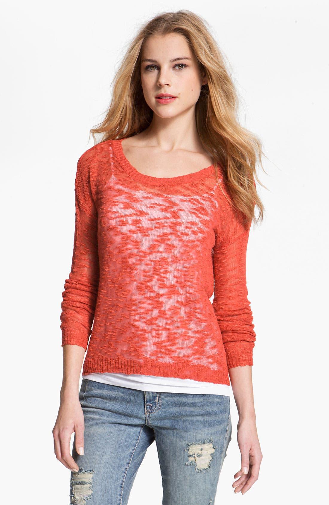 Alternate Image 1 Selected - Kensie Burnout Sweater