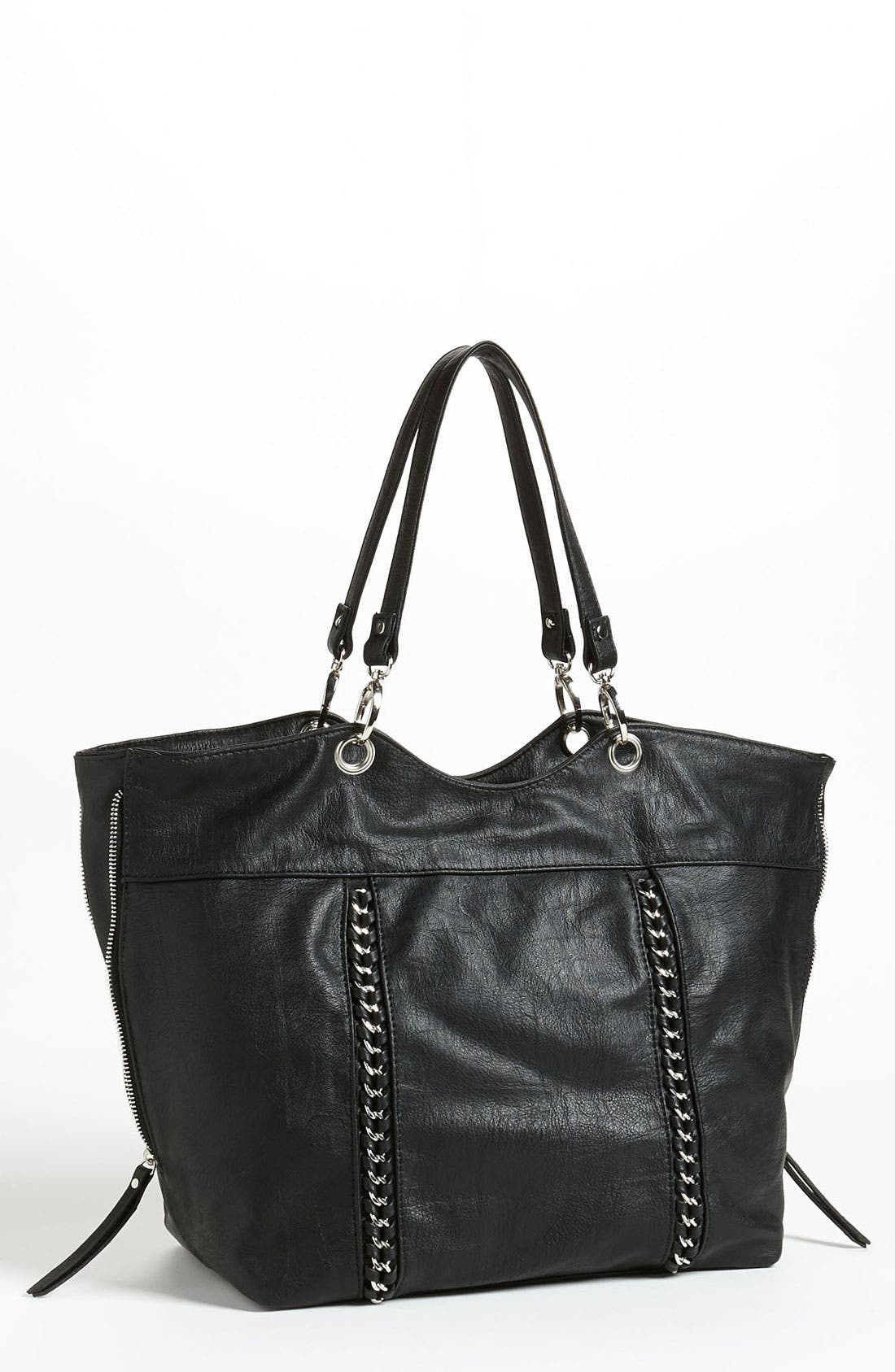 Main Image - Cesca Chain Trim Expandable Tote (Online Exclusive)