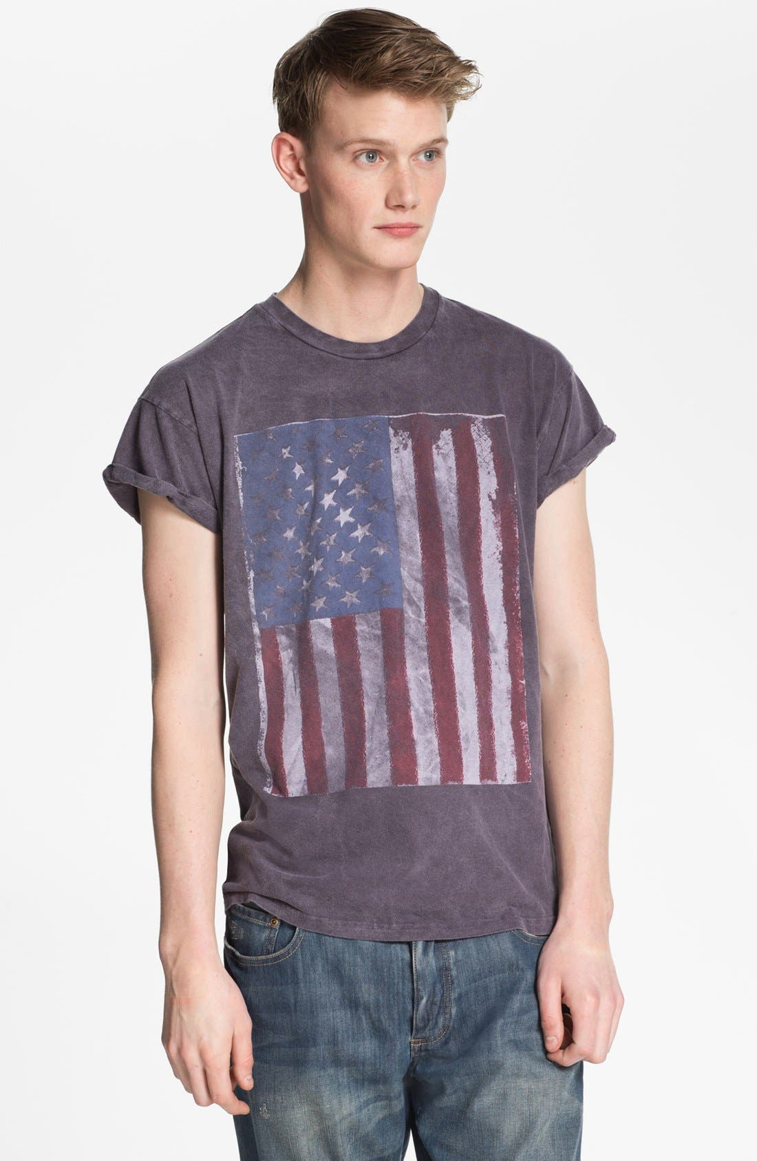 Alternate Image 1 Selected - Topman 'Stars and Stripes' T-Shirt