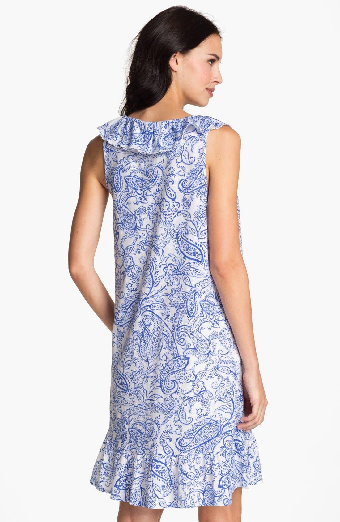 Alternate Image 2  - Lauren Ralph Lauren Short Ruffle Nightgown