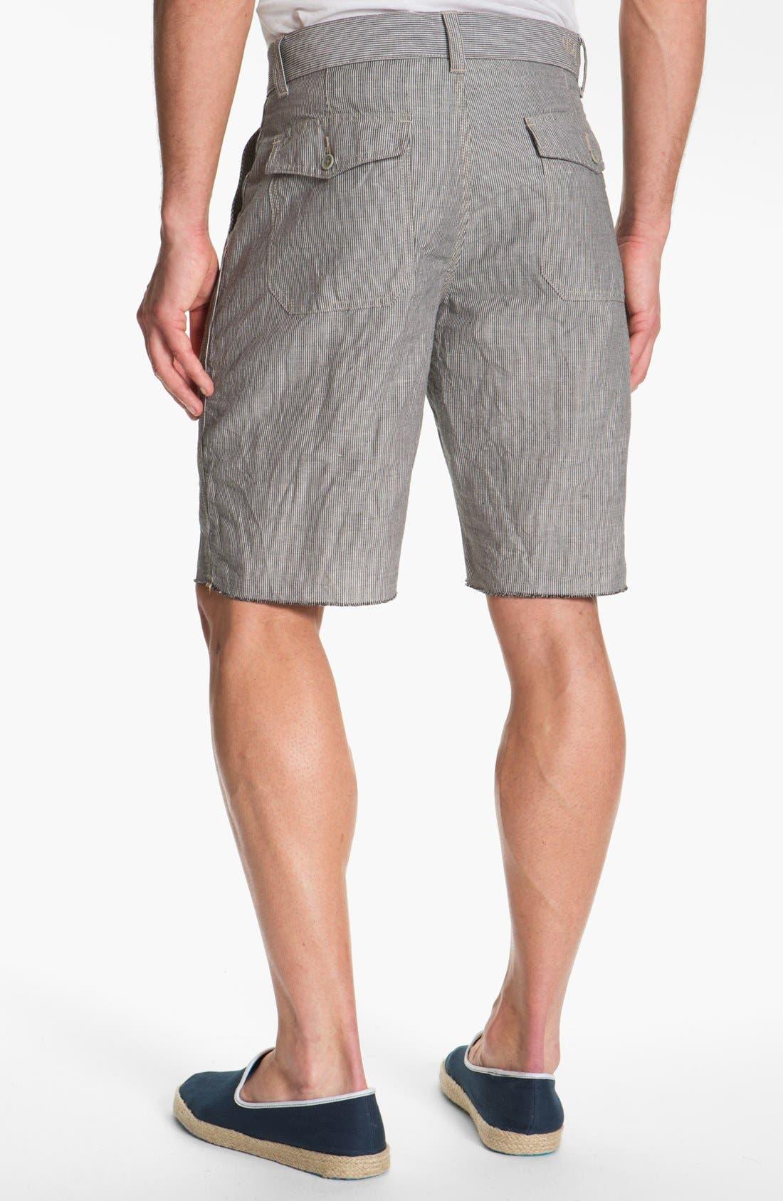 Alternate Image 2  - John Varvatos Star USA Linen Blend Shorts