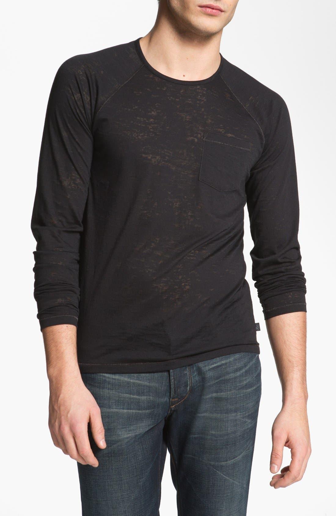 Main Image - John Varvatos Star USA Burnout Henley