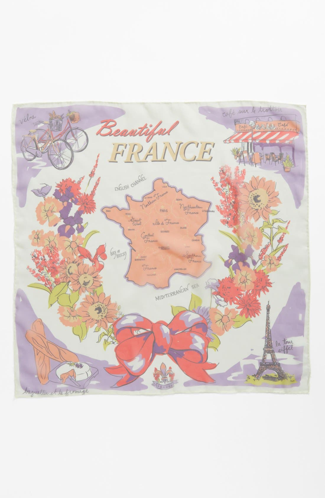 Alternate Image 2  - Tarnish 'Beautiful France' Scarf