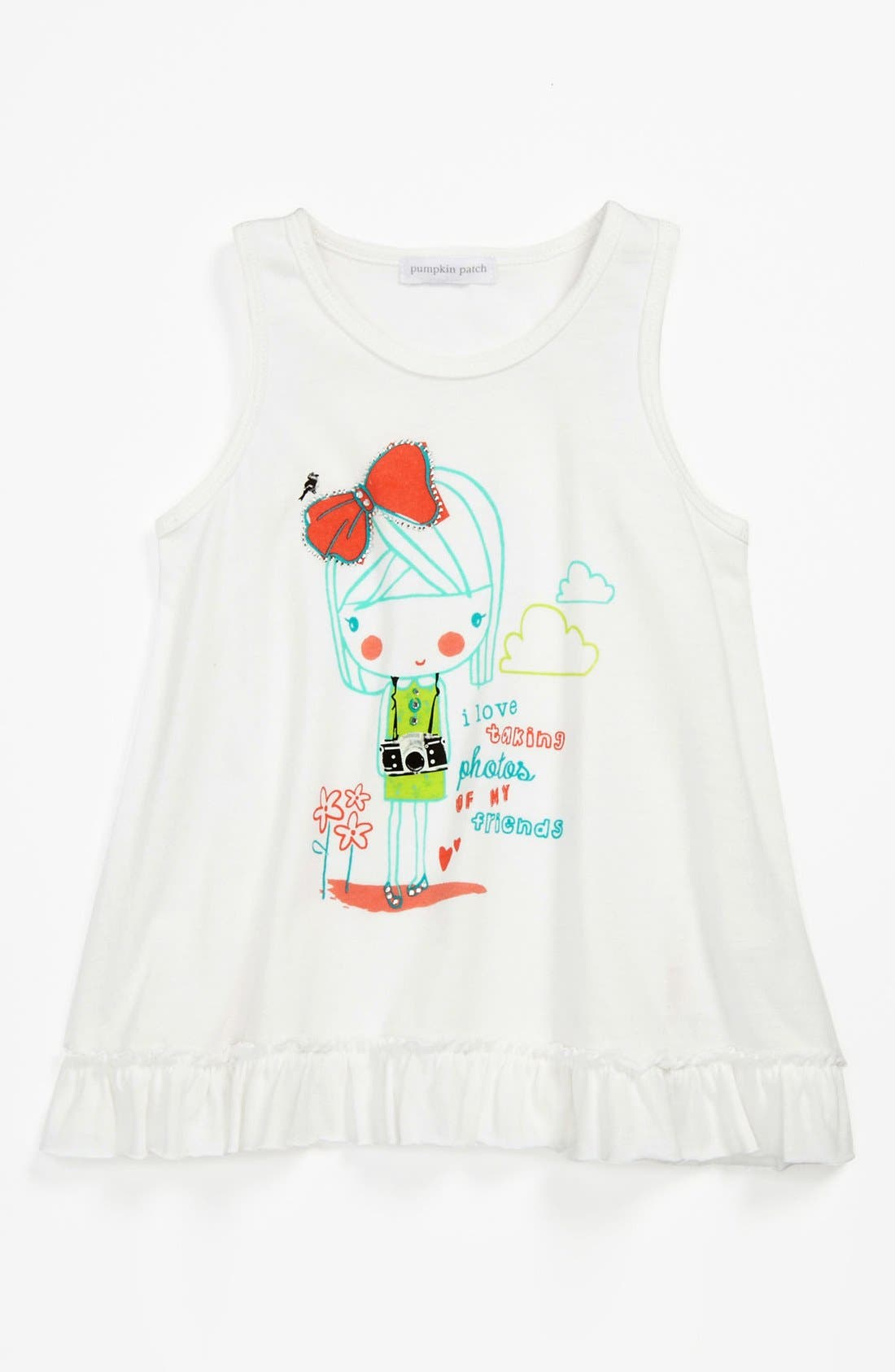 Alternate Image 1 Selected - Pumpkin Patch Frill Hem Tank Top (Toddler)
