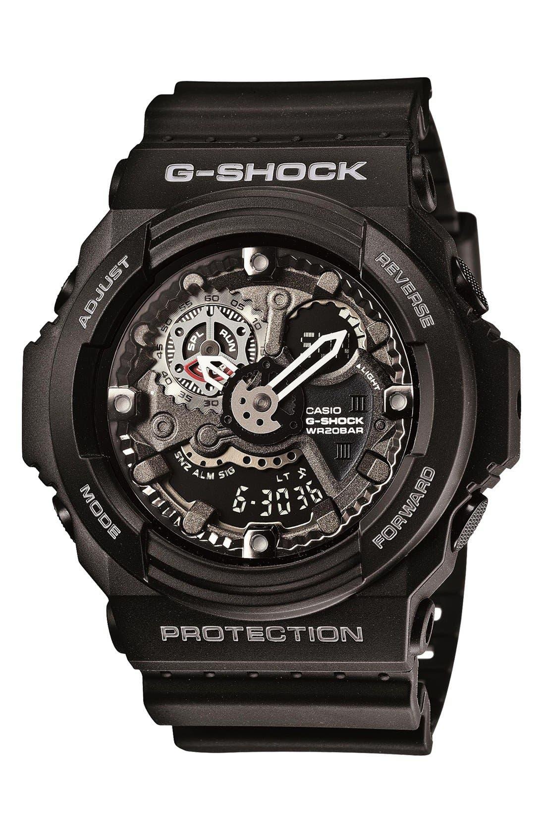 Main Image - G-Shock 'X-Large' Dual Movement Watch, 55mm x 52mm