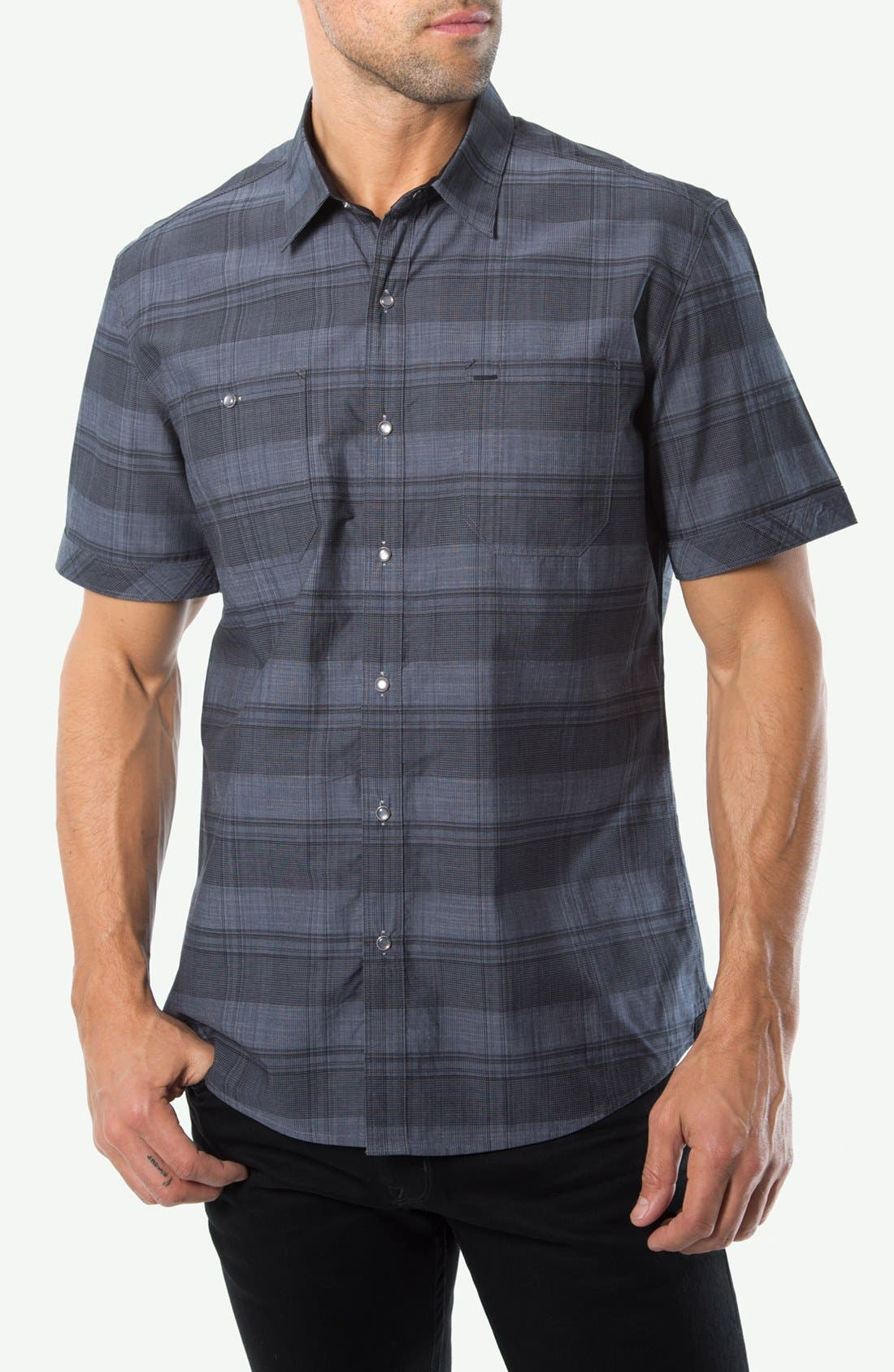 Main Image - 7 Diamonds 'We Are Young' Short Sleeve Plaid Shirt