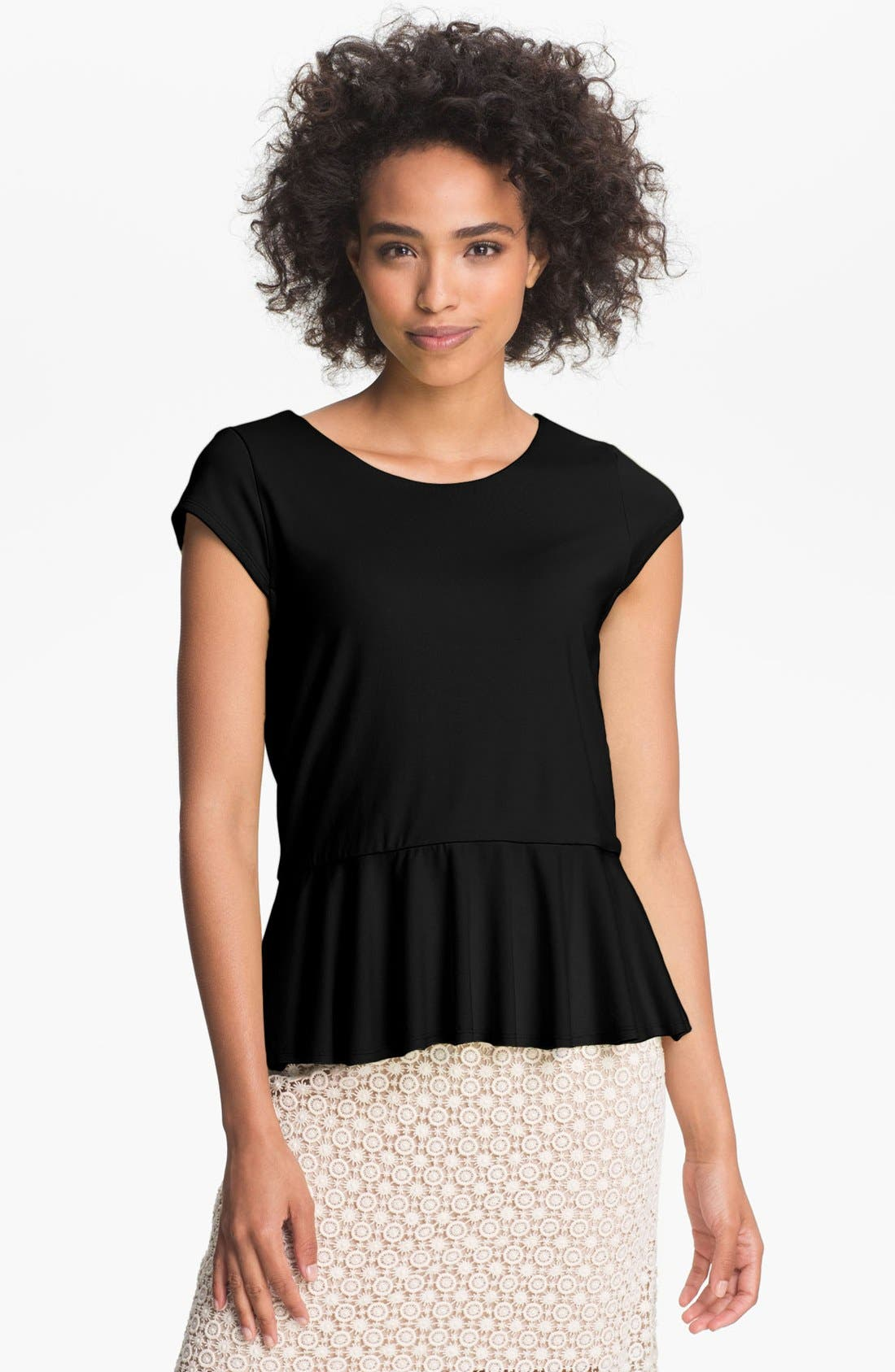Alternate Image 1 Selected - Vince Camuto Cap Sleeve Peplum Top