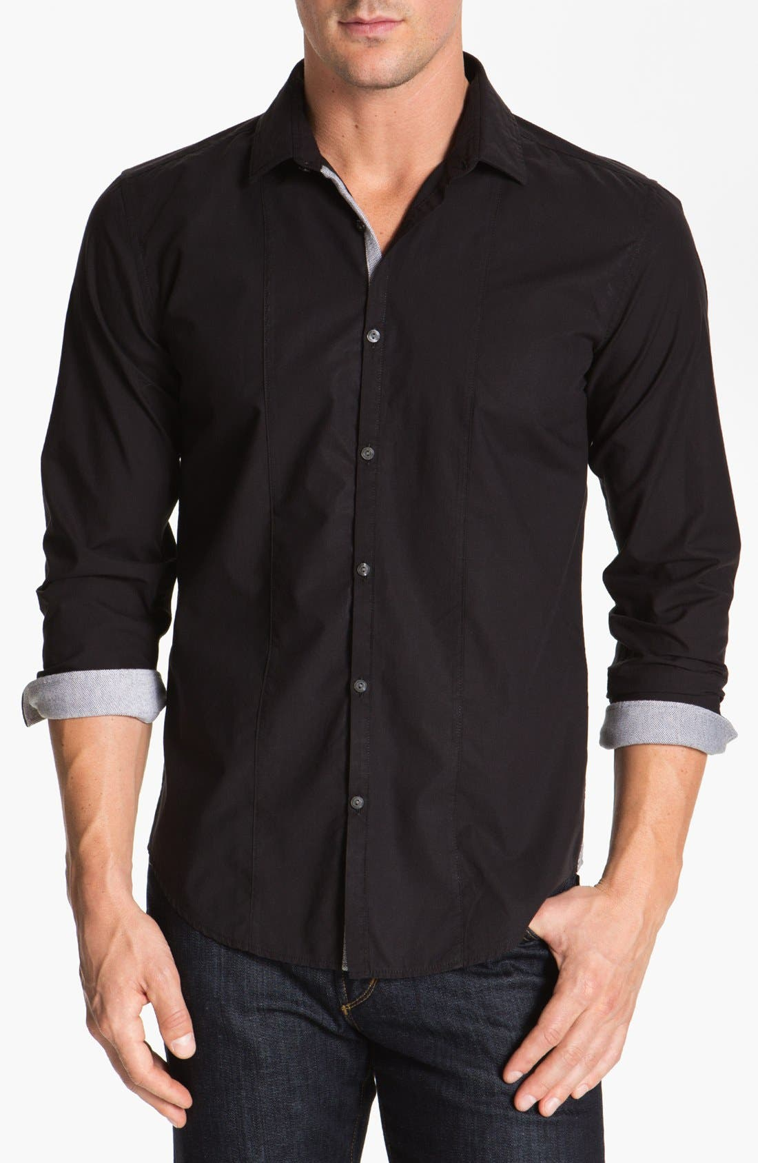 Alternate Image 1 Selected - BOSS HUGO BOSS 'Pancho' Slim Fit Sport Shirt