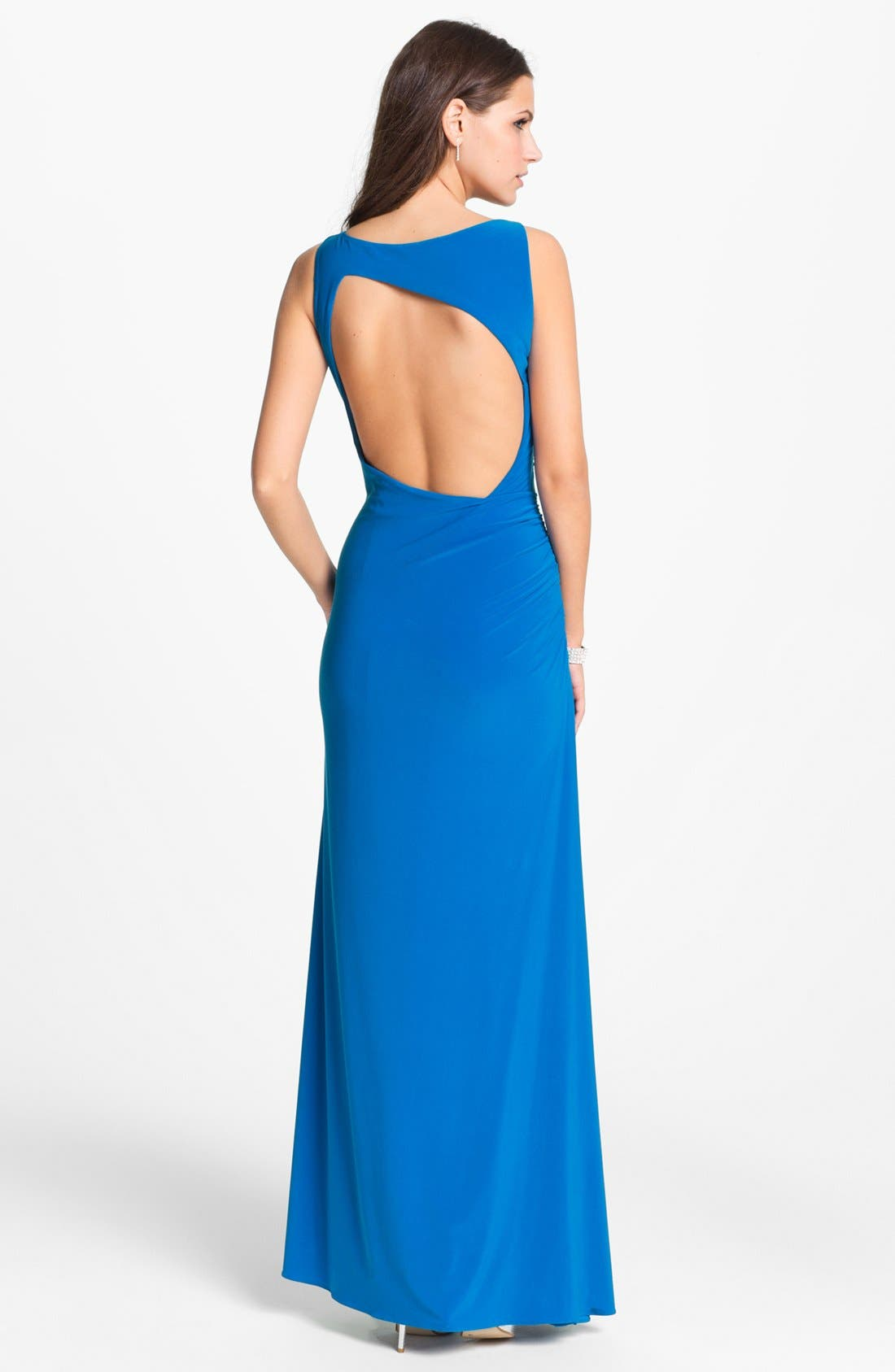 Alternate Image 2  - Hailey by Adrianna Papell Embellished Strap Jersey Gown