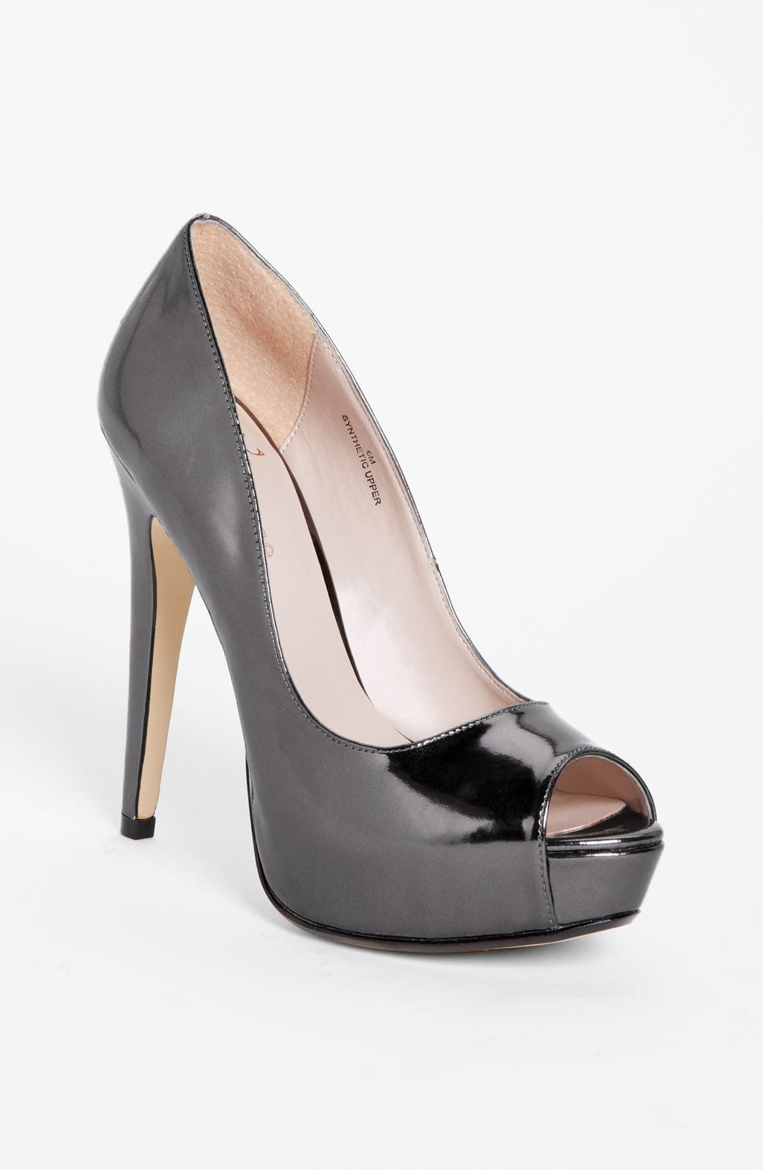 Alternate Image 1 Selected - Flounce 'Ivie' Peep Toe Platform Pump