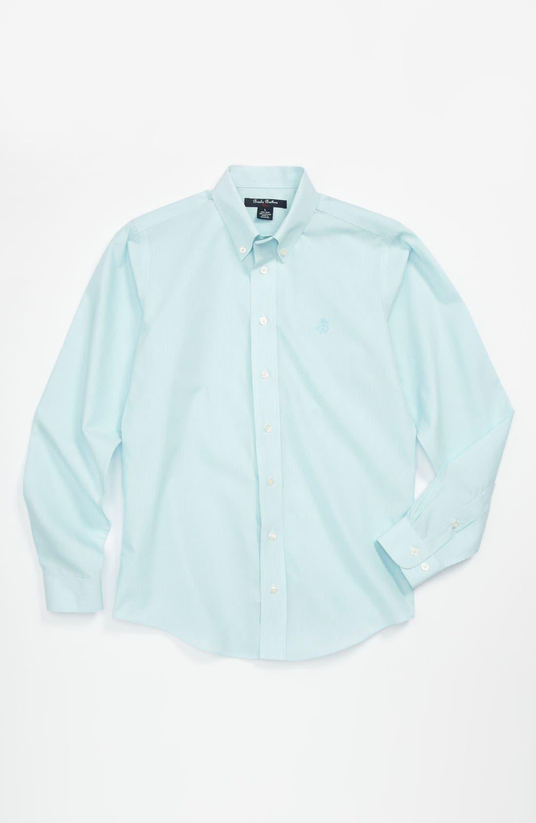 Alternate Image 1 Selected - Brooks Brothers Non-Iron Sport Shirt (Big Boys)