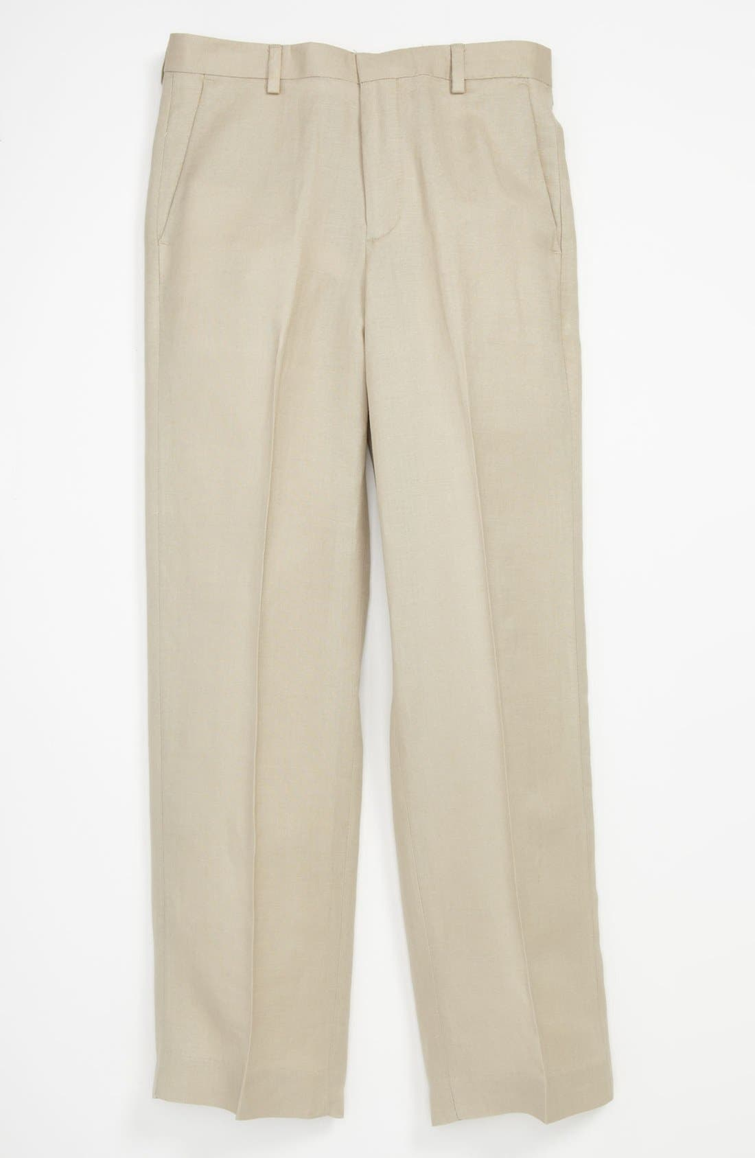 Alternate Image 1 Selected - Nordstrom 'Phillip' Linen Blend Trousers (Little Boys & Big Boys)
