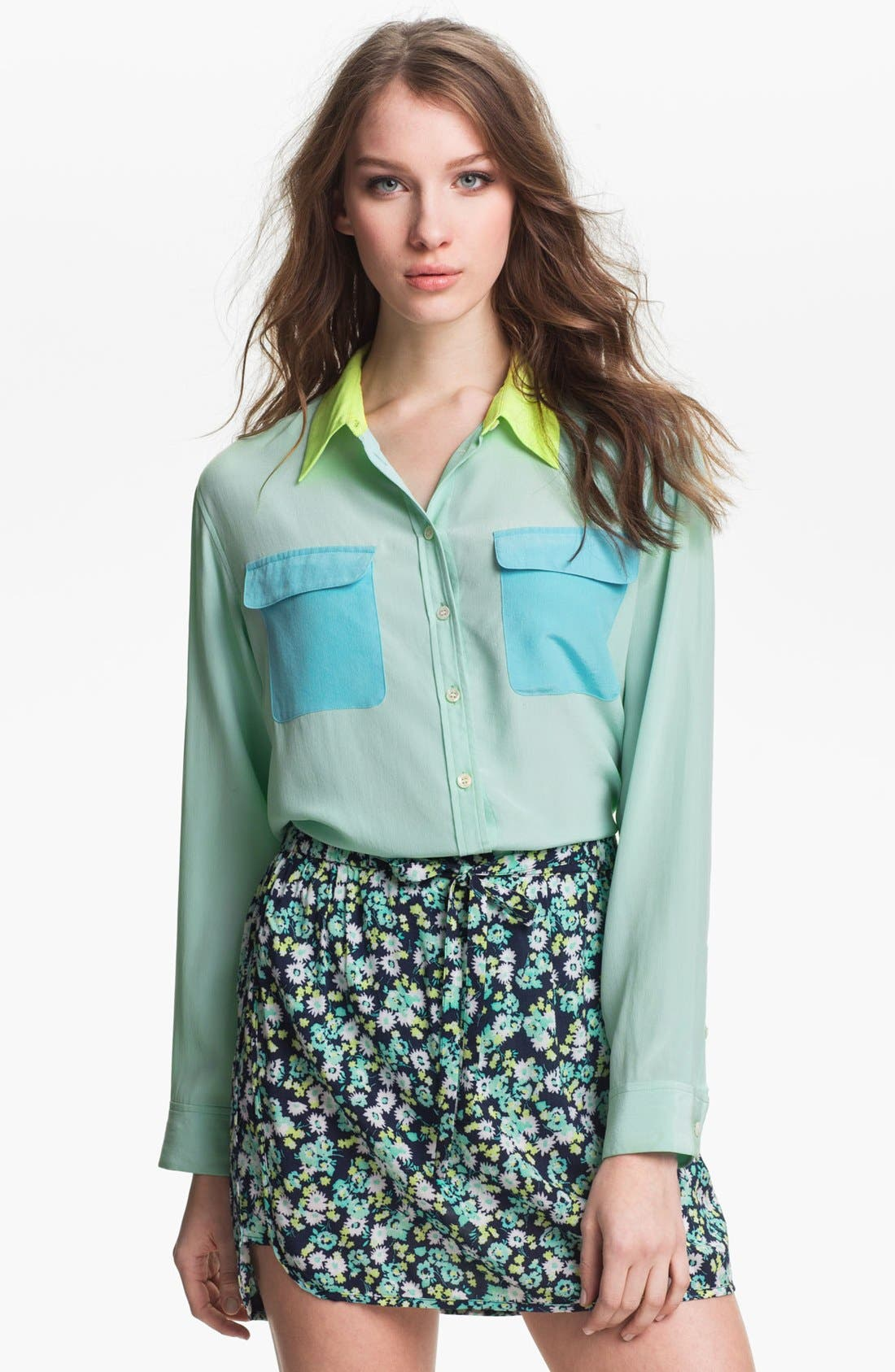Alternate Image 1 Selected - Two by Vince Camuto Colorblock Utility Shirt