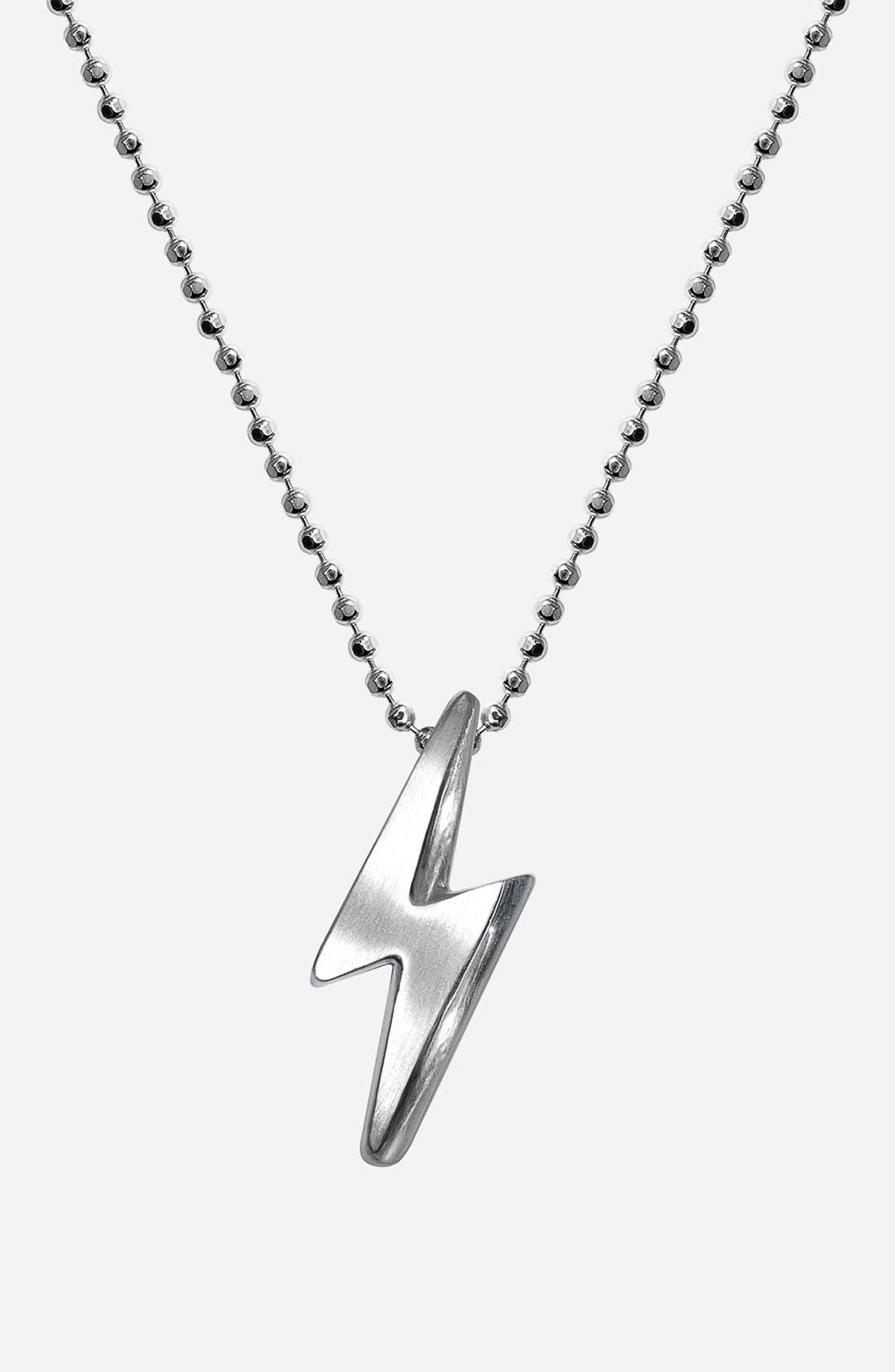 Alternate Image 1 Selected - Alex Woo 'Little Rock Star' Lightning Bolt Pendant Necklace