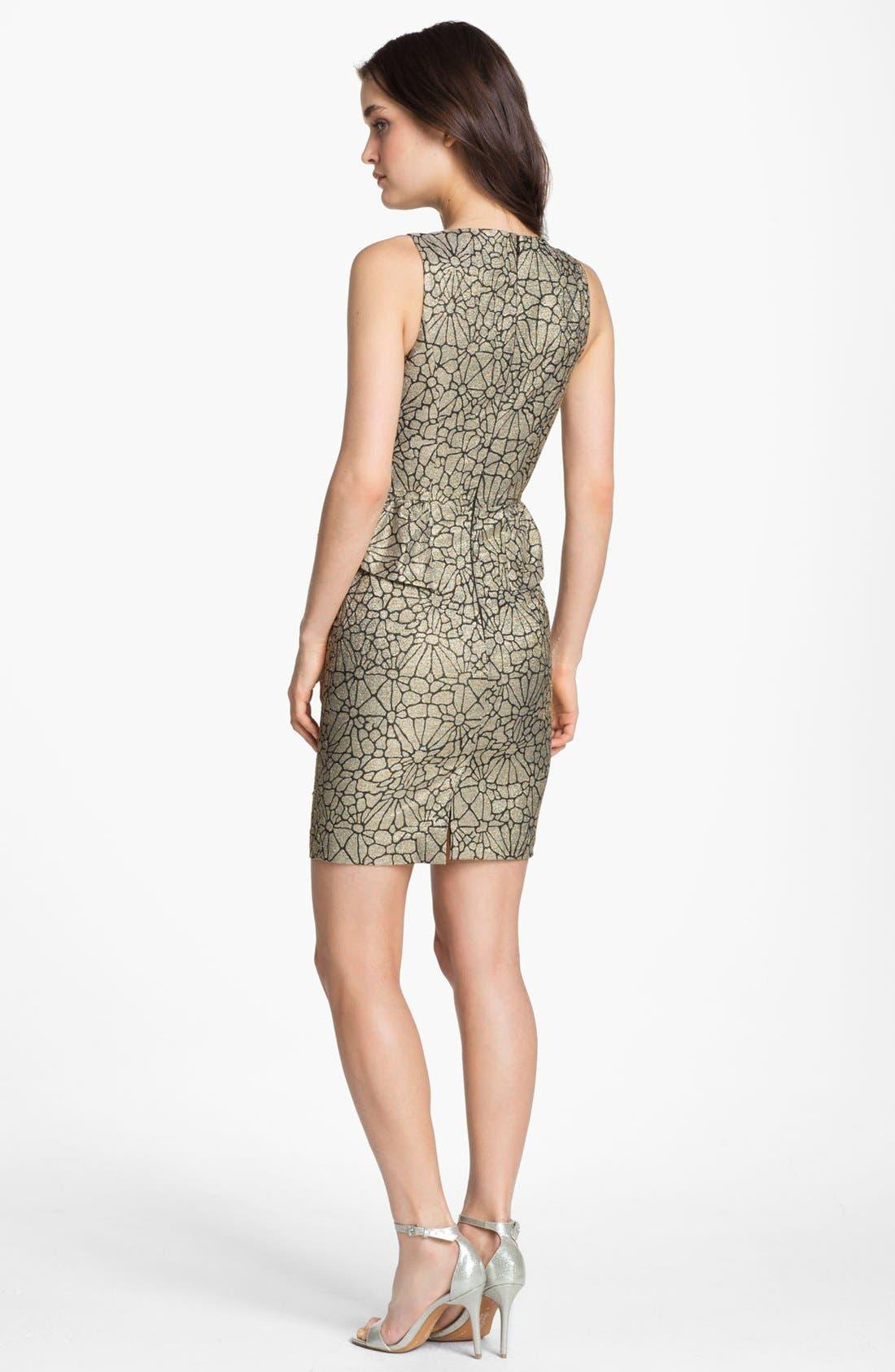 Alternate Image 2  - ERIN erin fetherston Metallic Peplum Sheath Dress