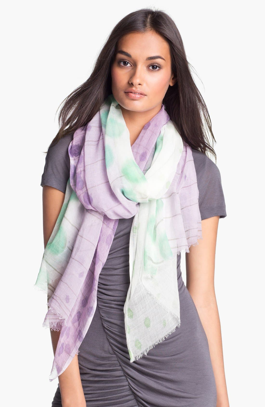 'Ethereal Garden' Scarf,                         Main,                         color, Multi Orchid