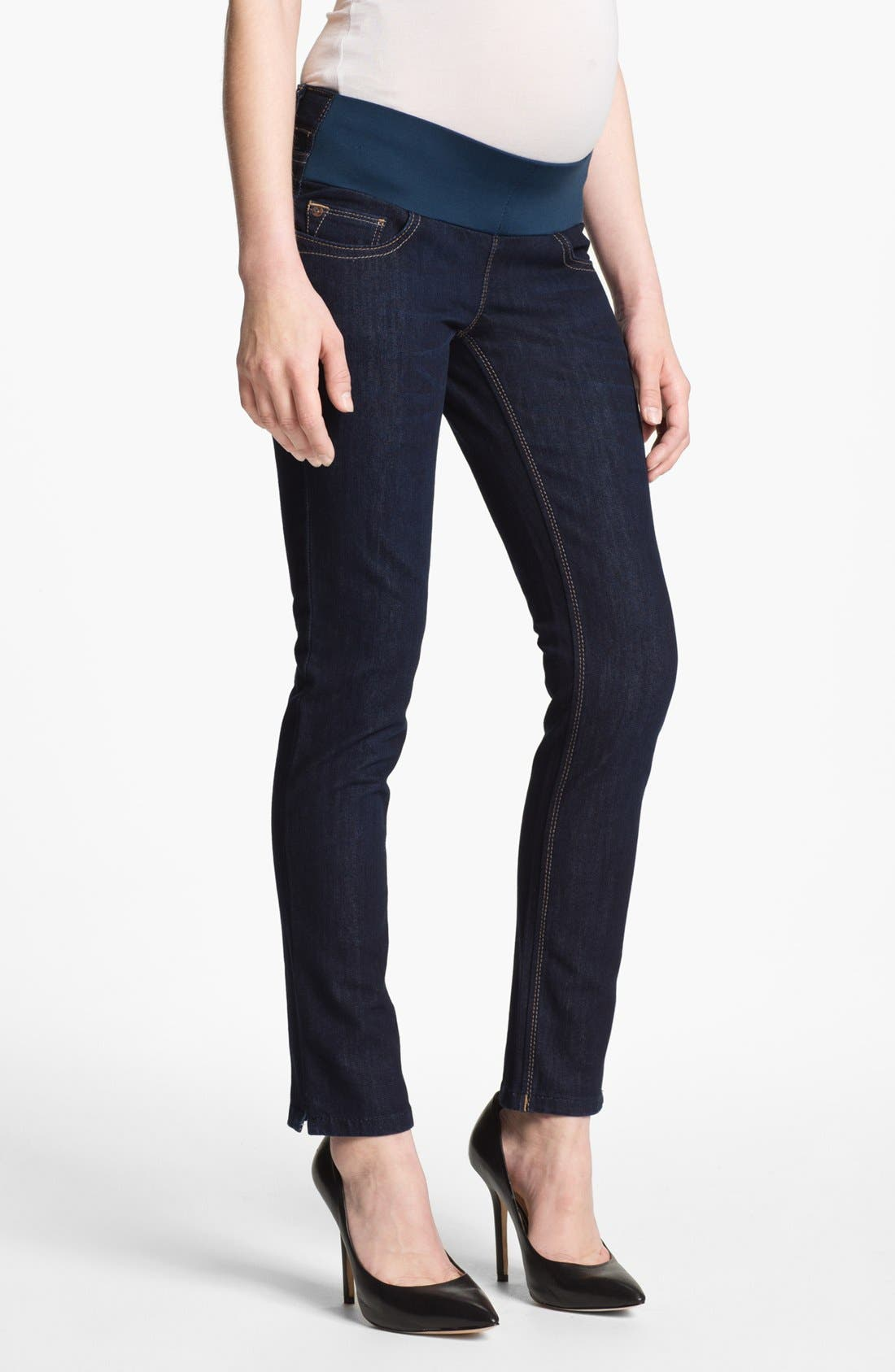 Alternate Image 1 Selected - DL1961 'Angel' Maternity Ankle Skinny Jeans (Marnier)
