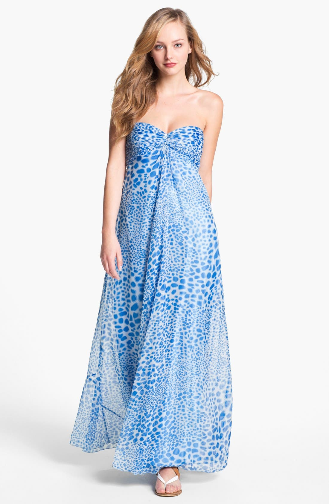 Alternate Image 1 Selected - Laundry by Shelli Segal Print Chiffon Gown