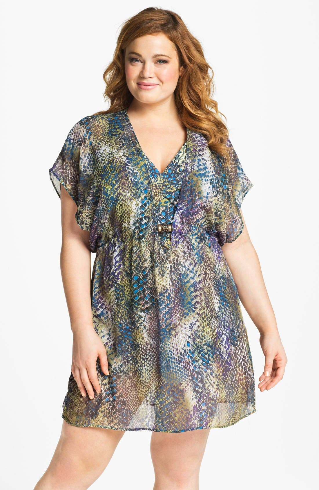 Alternate Image 1 Selected - Becca Etc. 'Mamba' Cover-Up (Plus Size)