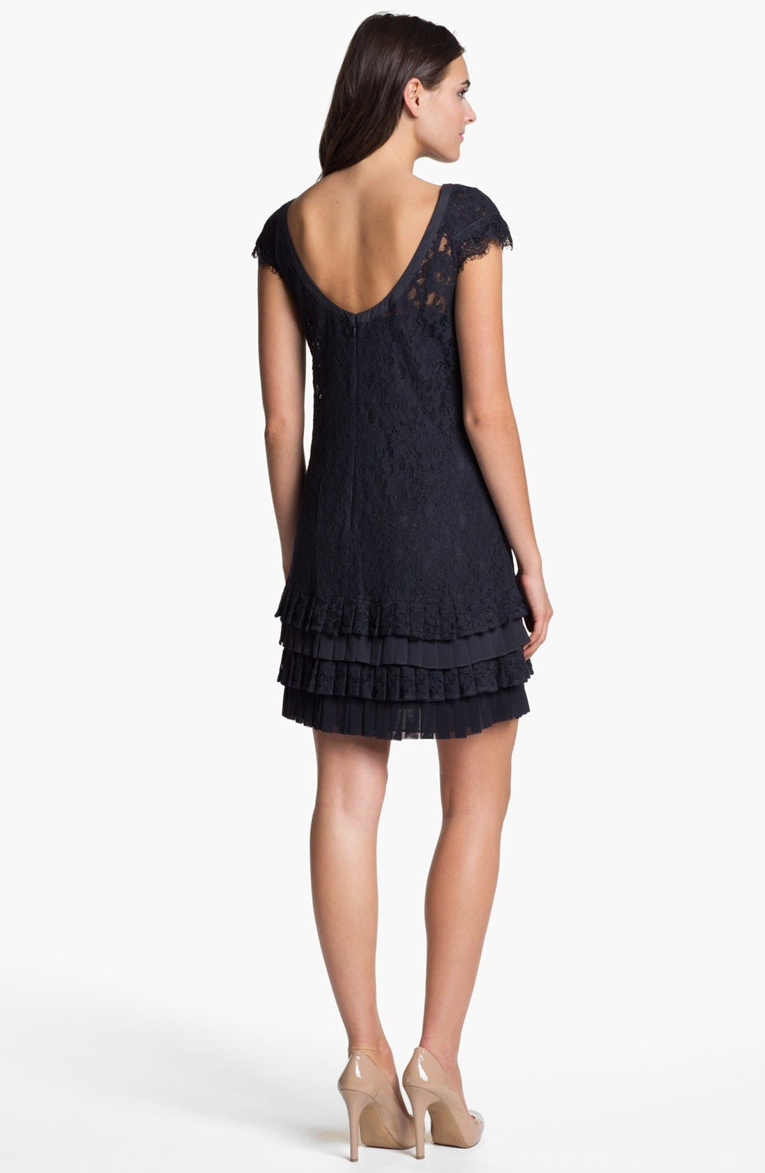 Alternate Image 2  - Jessica Simpson Tiered Lace Dress