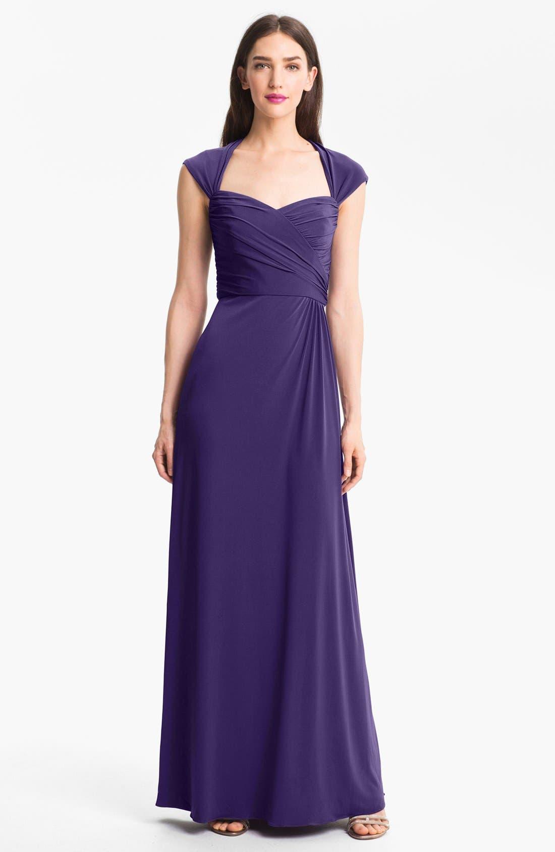 Main Image - Amsale Back Cutout Gown