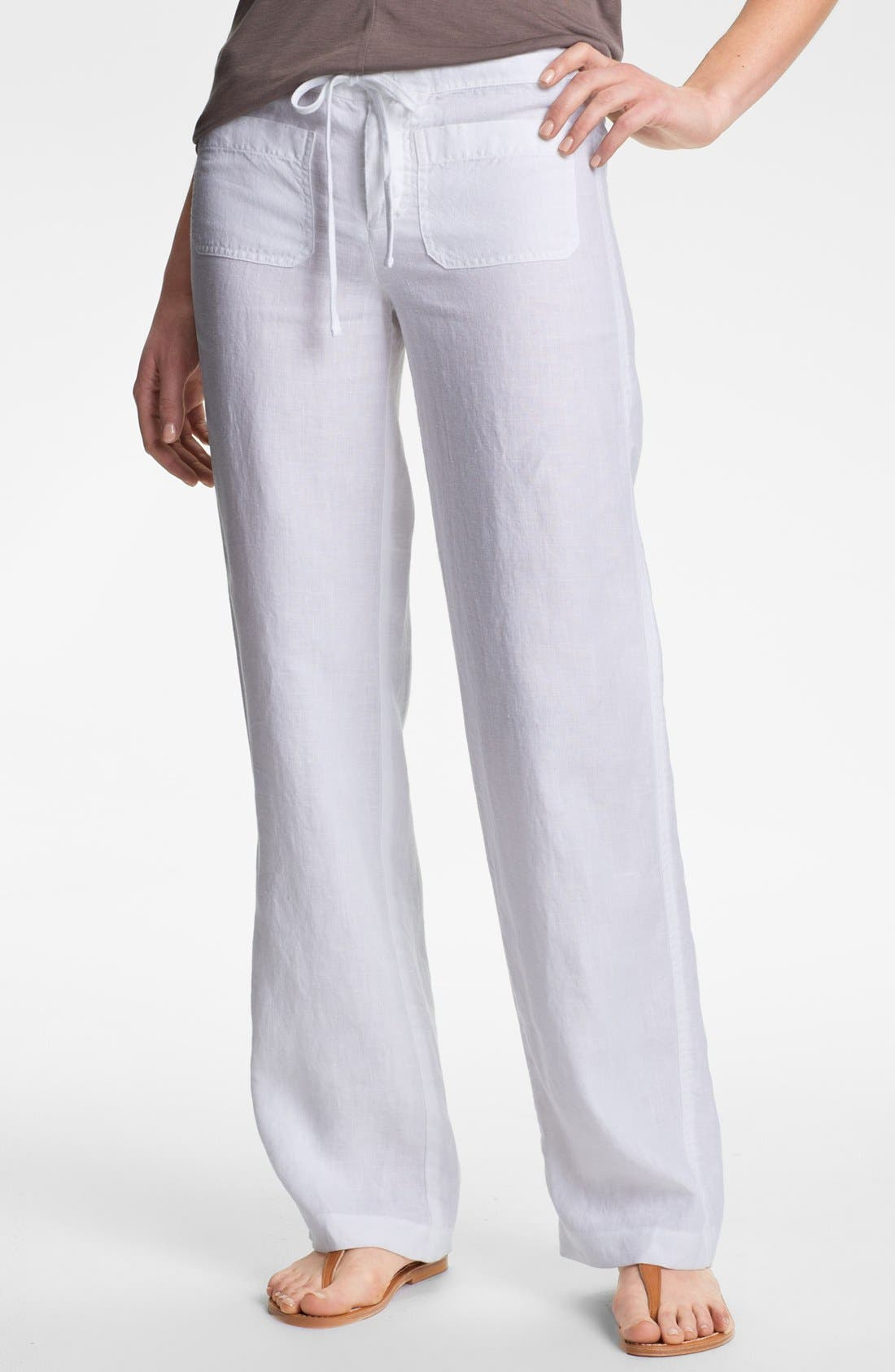 Alternate Image 1 Selected - Vince Linen Pants