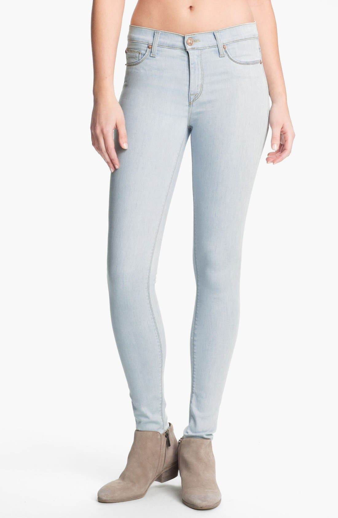 Alternate Image 1 Selected - Hudson Jeans 'Nico' Super Skinny Jeans (Dahlia)