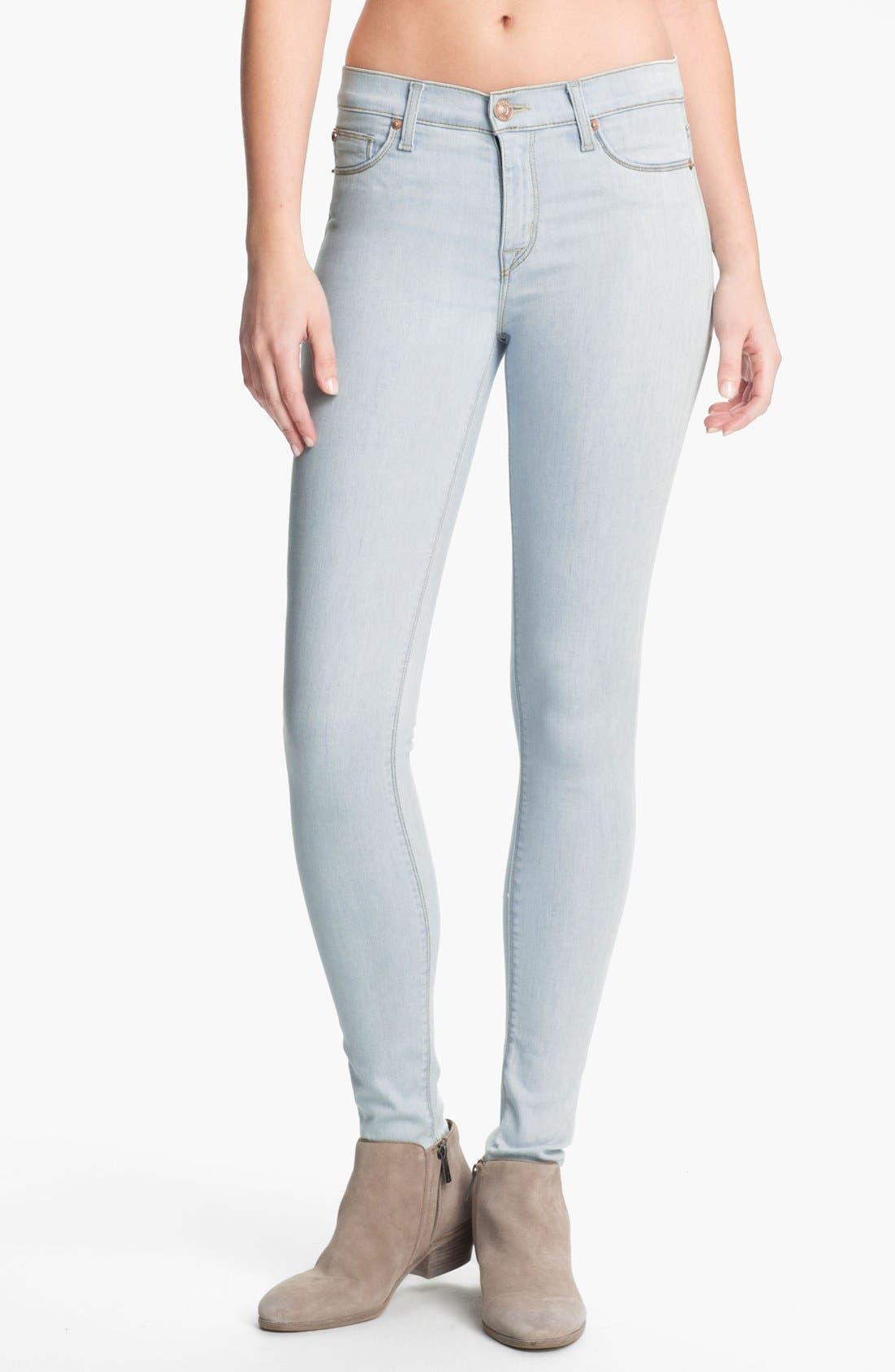 Main Image - Hudson Jeans 'Nico' Super Skinny Jeans (Dahlia)