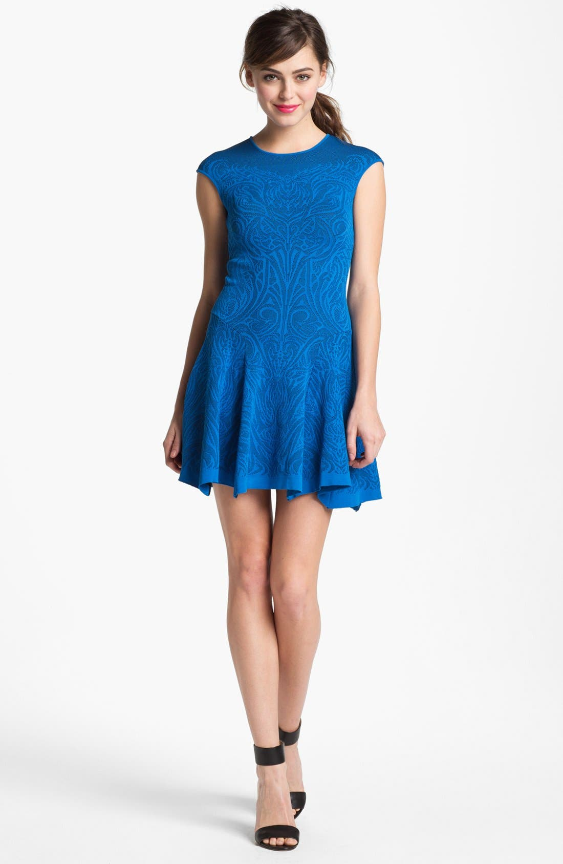 Alternate Image 1 Selected - RVN Lace Jacquard Dress