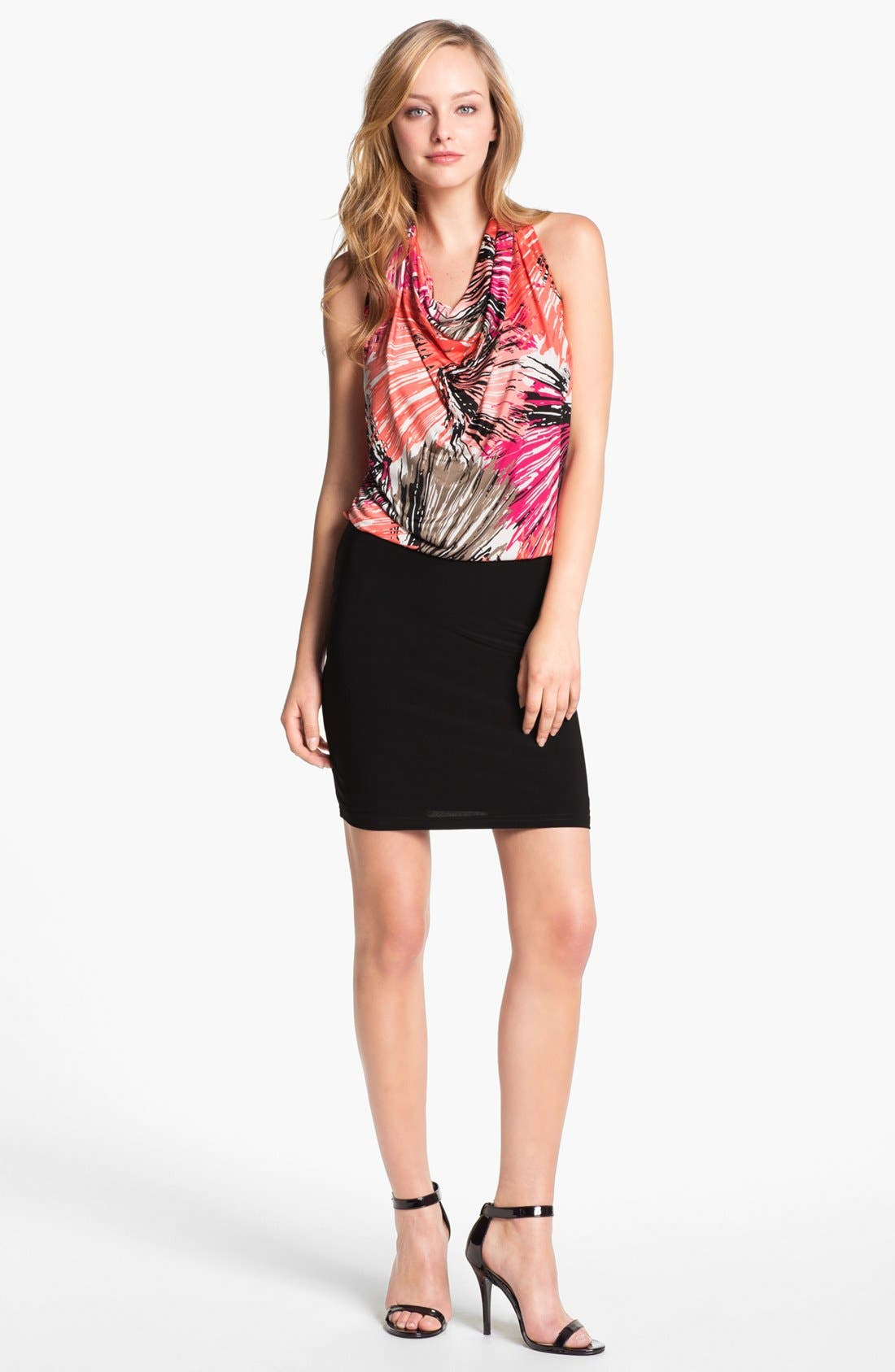 Main Image - Abi Ferrin 'Fantasia' Sleeveless Blouson Dress