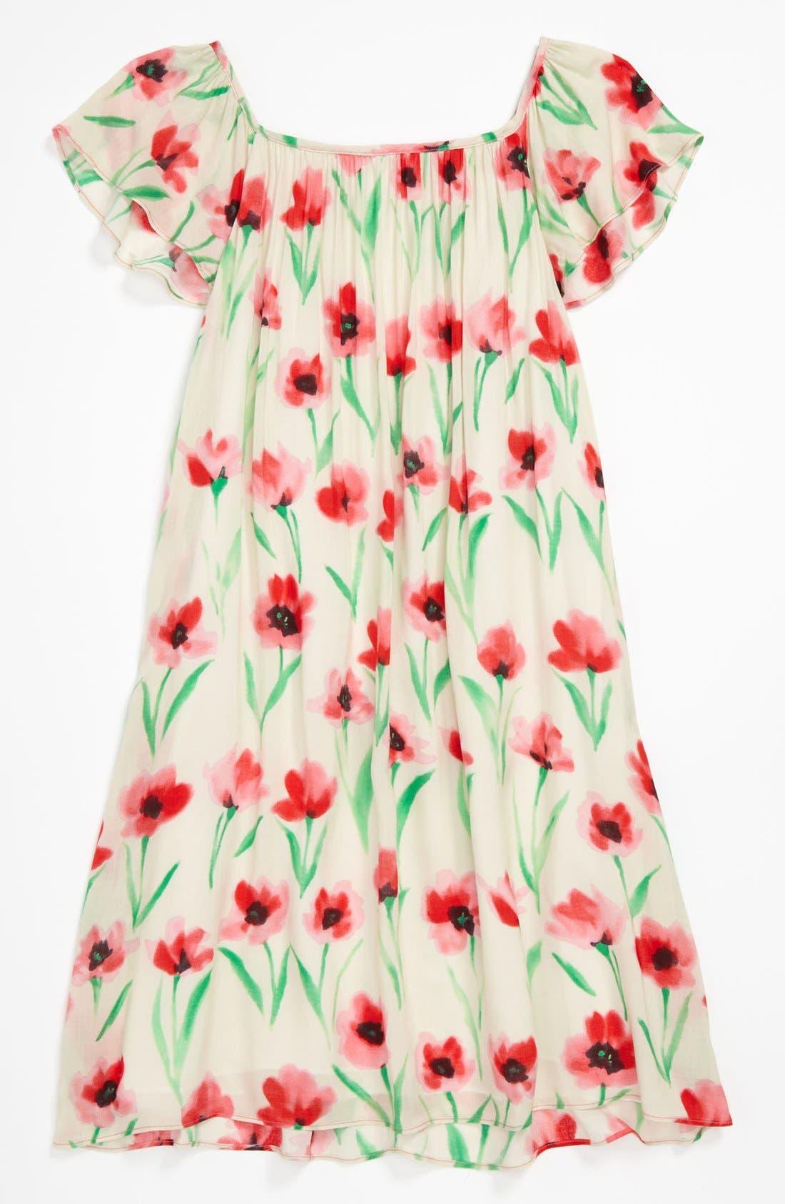 Main Image - Milly Minis Gathered Dress (Little Girls & Big Girls)