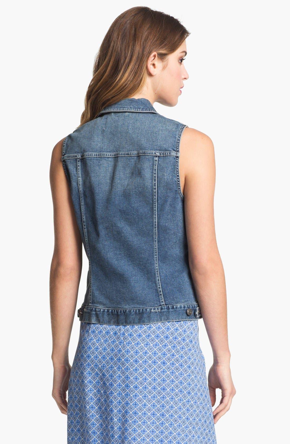 Alternate Image 2  - Two by Vince Camuto Vintage Wash Denim Vest